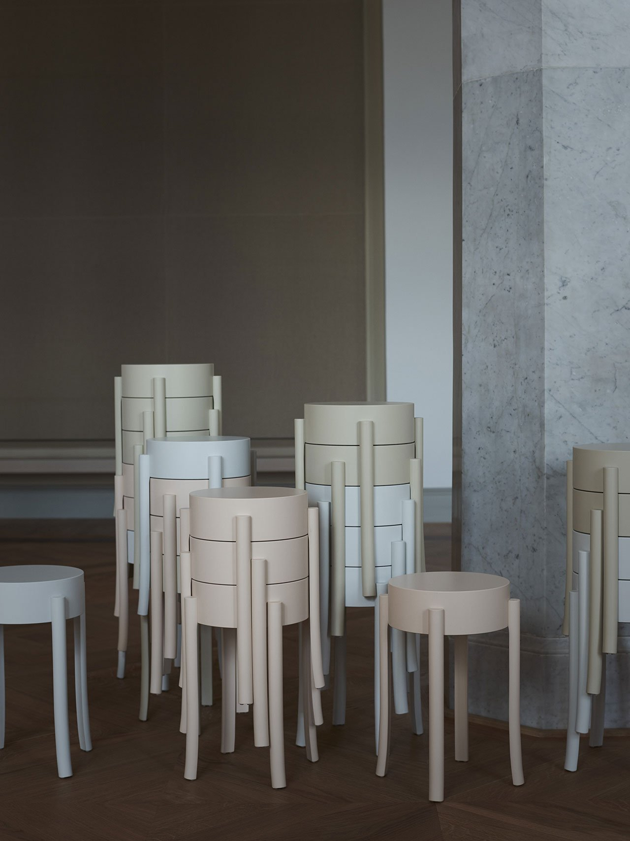 "NM& 047: ""Avavick"" Stool by Katja Pettersson produced by Swedese. Photo by Pia Ulin."