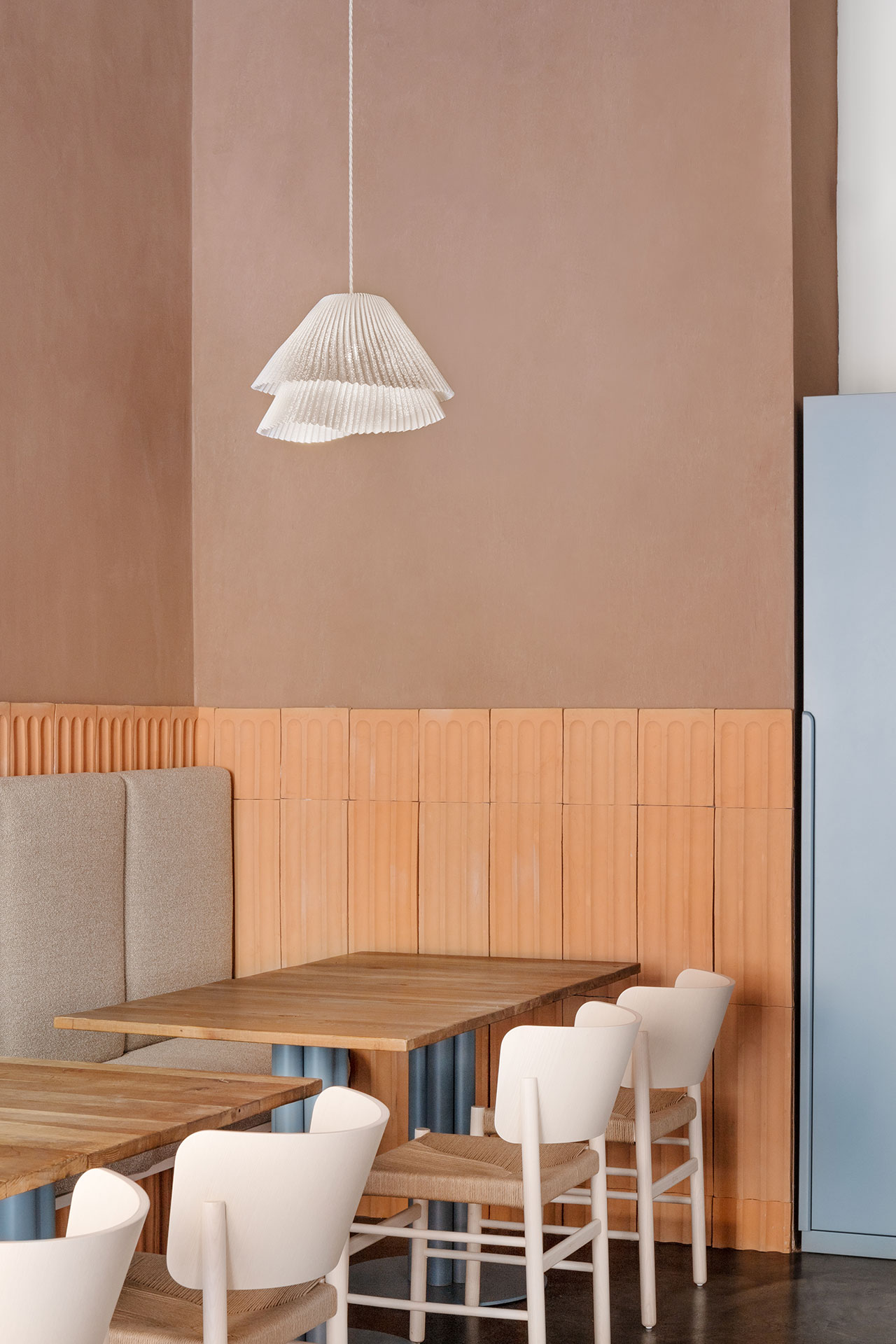 28 Posti restaurant designed byCristina Celestino. PhotoDelfino Sisto Legnani.