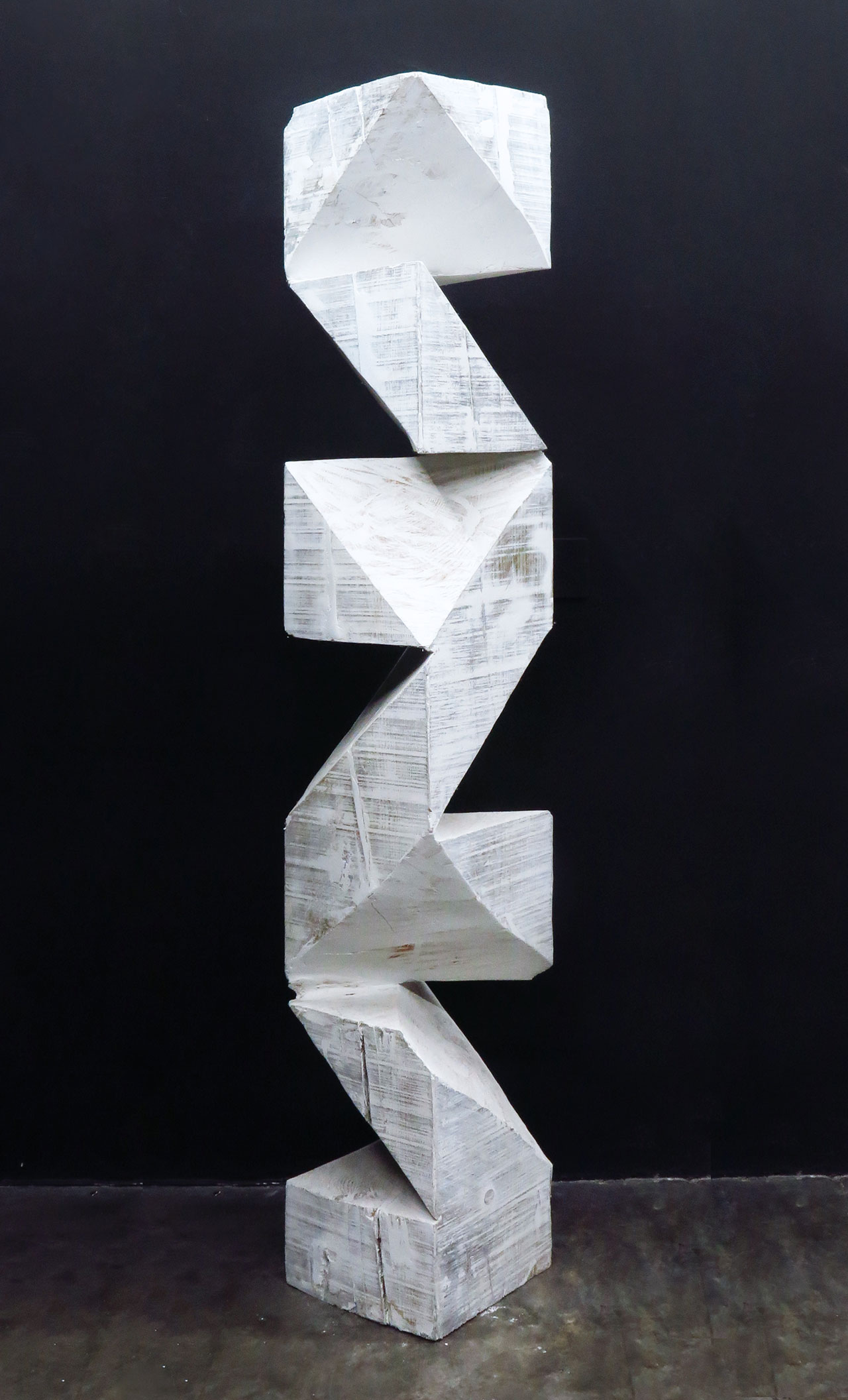 Aldo Chaparro, Totem, plaster on wood, 30 x 30 x 120 cm, 2014. Courtesy PEANA Projects.
