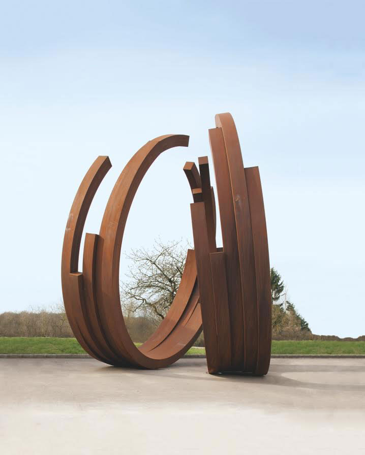 "Bernar Venet, 234.5° Arc x 10. Work presented at the exhibition ""The World Meets Here"" at Custot Gallery, Alserkal Avenue. Photo courtesy Alserkal Avenue."
