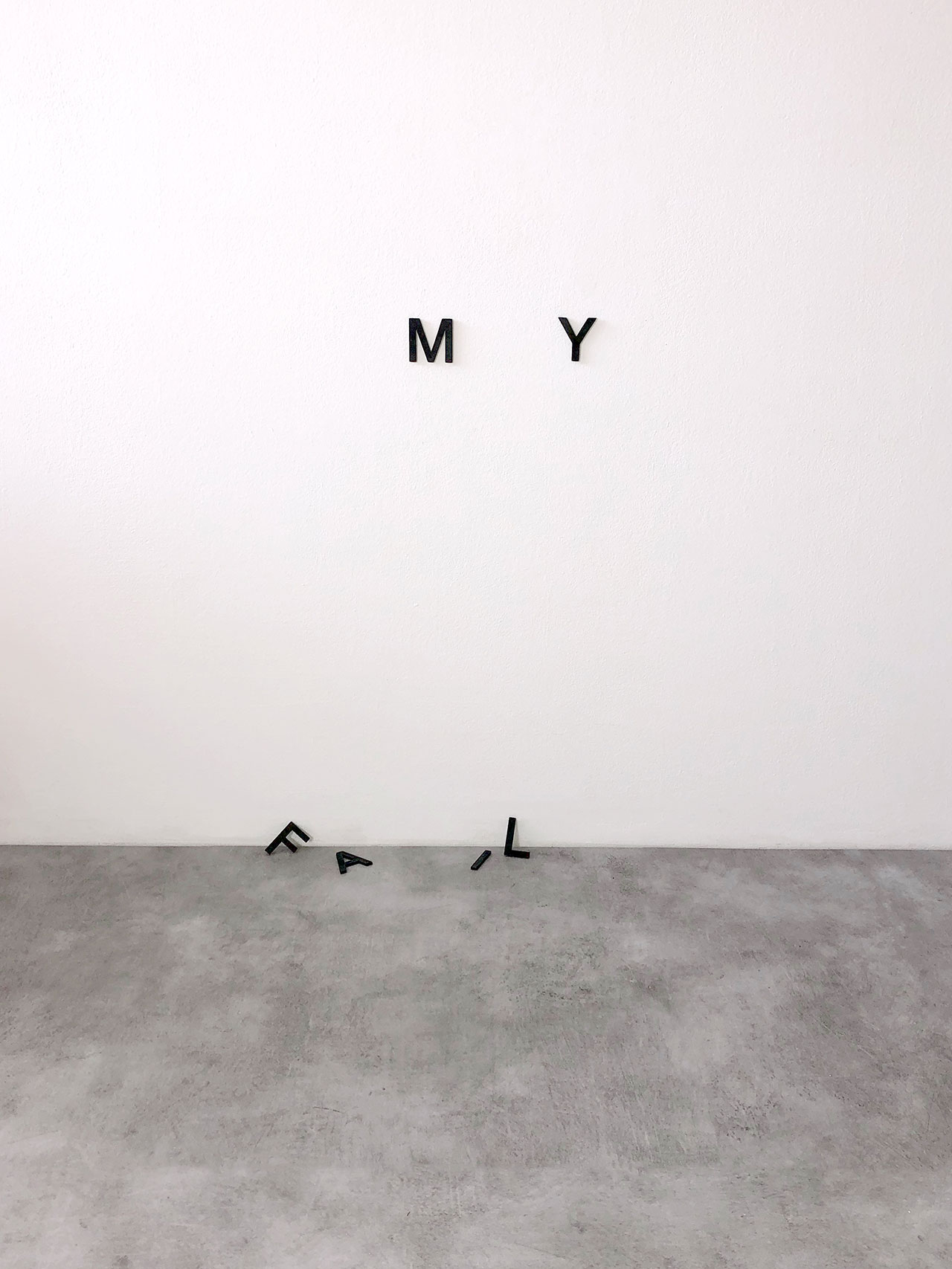 Anatol Knotek, family, text-installation© 2013/2016.