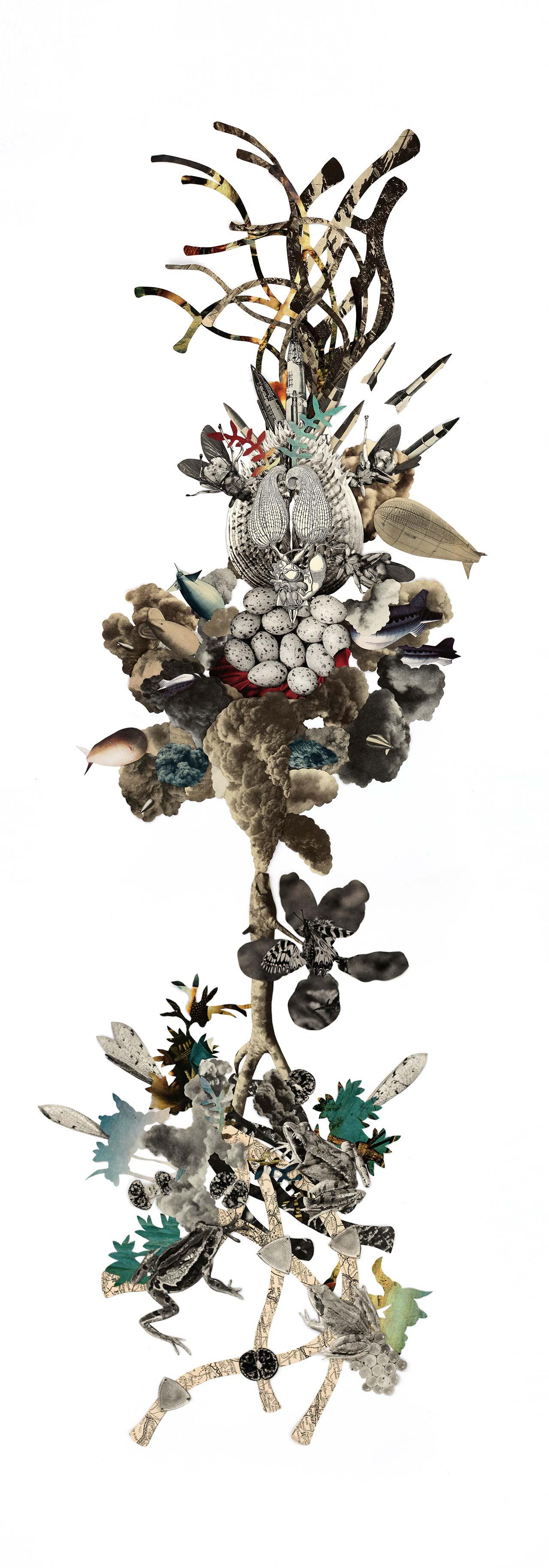 Barbara Wildenboer,Totem I, from 'Towers of Babel' series.©Barbara Wildenboer.
