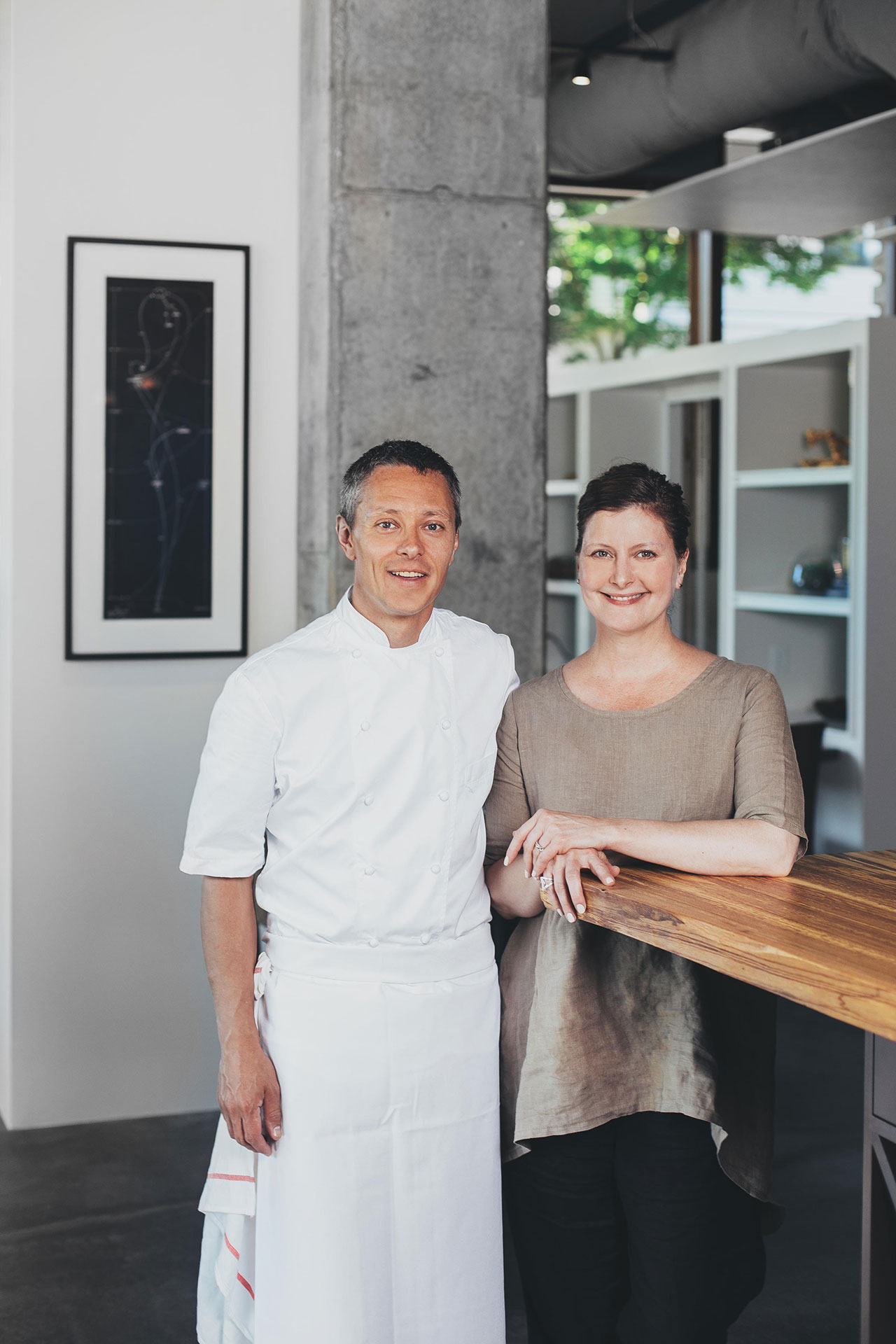 Chef Shaun McCrain and general manager Jill Kinney. Photo by Rafael Soldi.