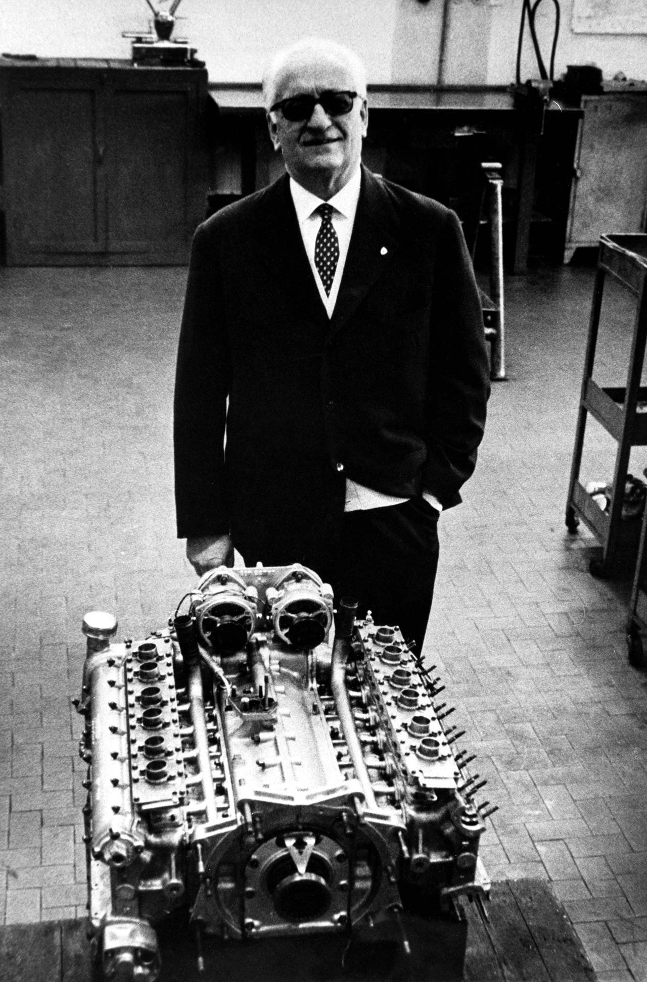 Enzo Ferrari, 1972. Photo courtesy of Ferrari.
