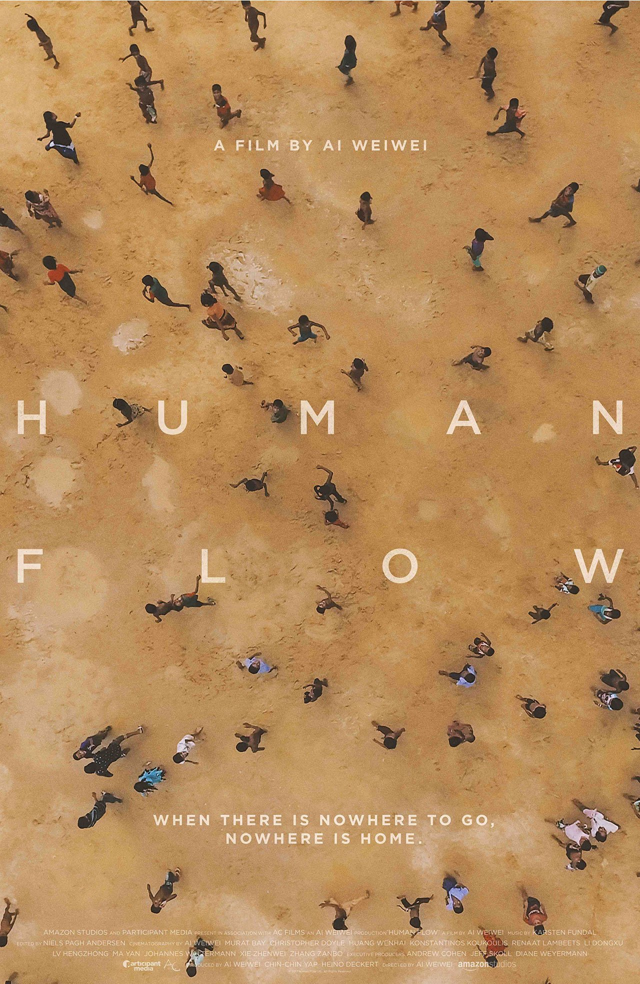 Theatrical one-sheet for HUMAN FLOW, an Amazon Studios release. Photo Courtesy of Amazon Studios.