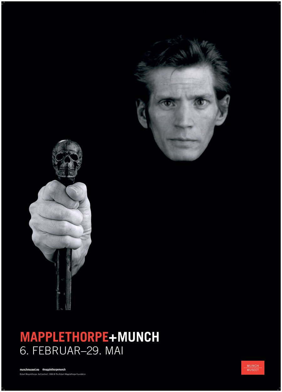 Mapplethorpe + Munch exhibition poster. Courtesy the Munch Museum.