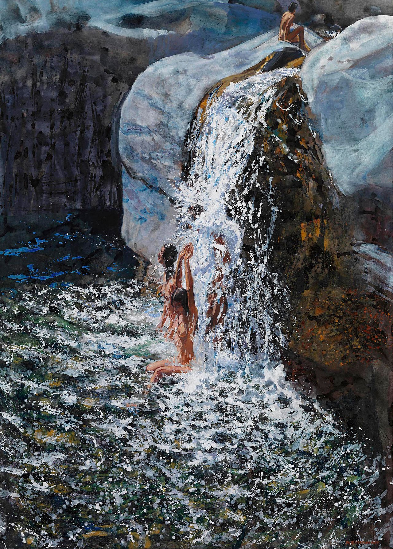 Maria Filopoulou, Elation, 2011. Oil on canvas, 128 x 92cm.