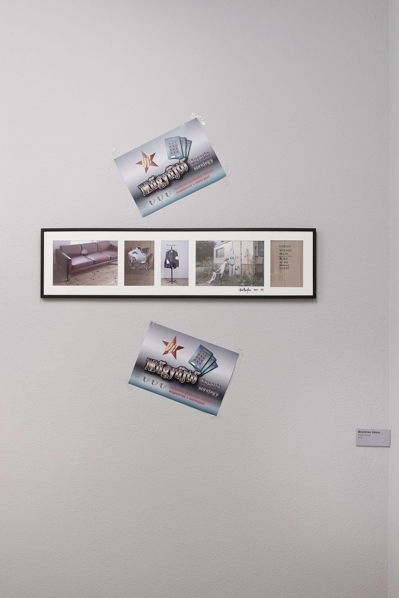 Brückner János Art Collector Scratchcard 2016 interactive installation. Photo byAron Weber.