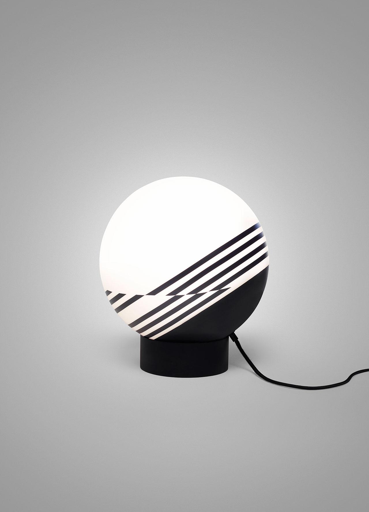 Lee Broom,Optical Table Lamp. Photo by Arthur Woodcroft.