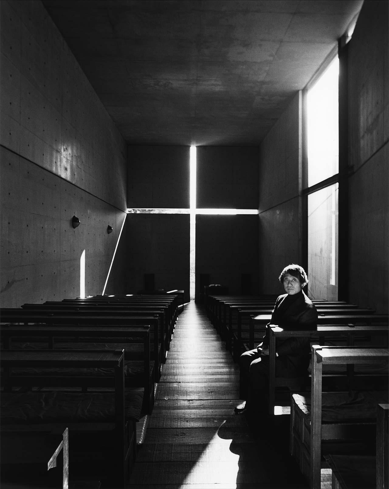 Tadao Ando Portrait. Photo by Nobuyoshi Araki.