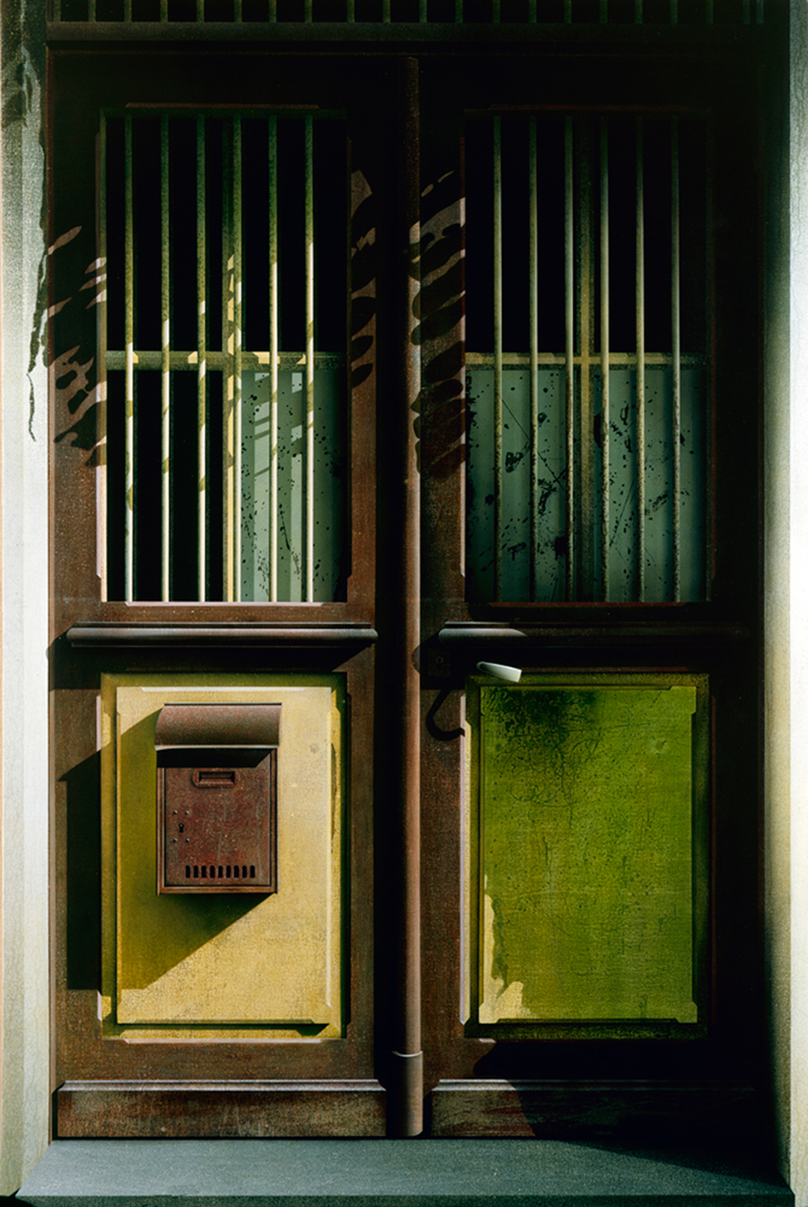 Ben Johnson Double Doors, France 1979Acrylic on canvas 84x56 1/4in / 213x104cm.