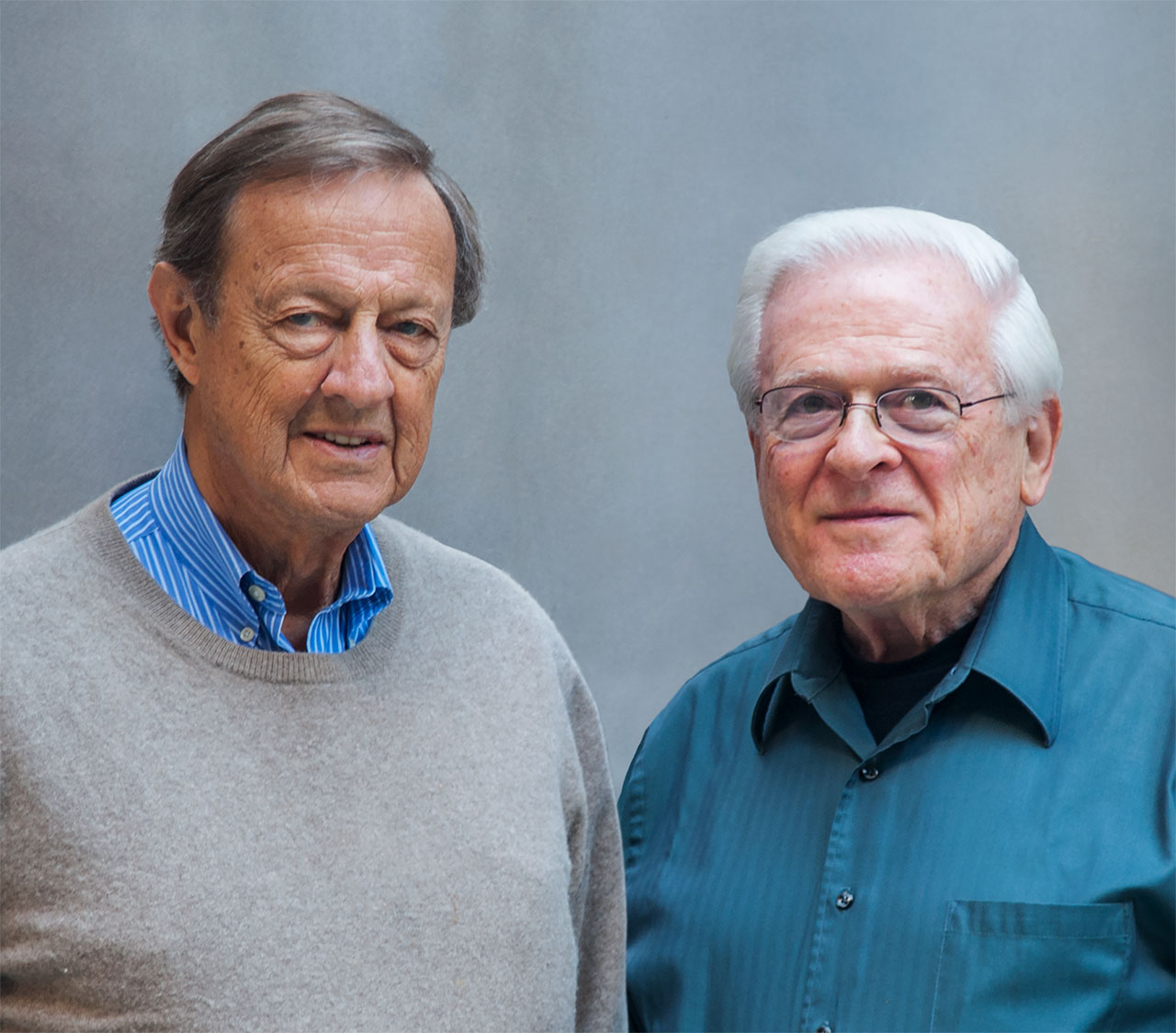 Ivan Chermayeff and Tom Geismar portrait. Photo © Chermayeff & Geismar & Haviv.