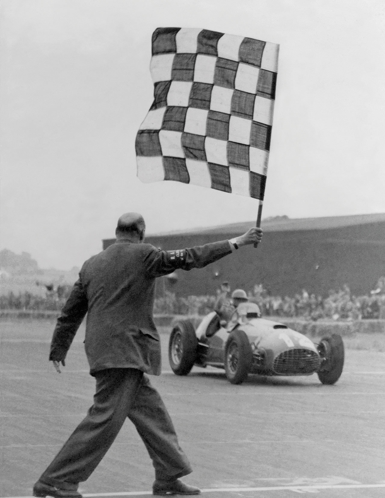 First Ferrari win in a GP valid for the Formula 1 World Championship, 1951. Photo courtesy of Ferrari.