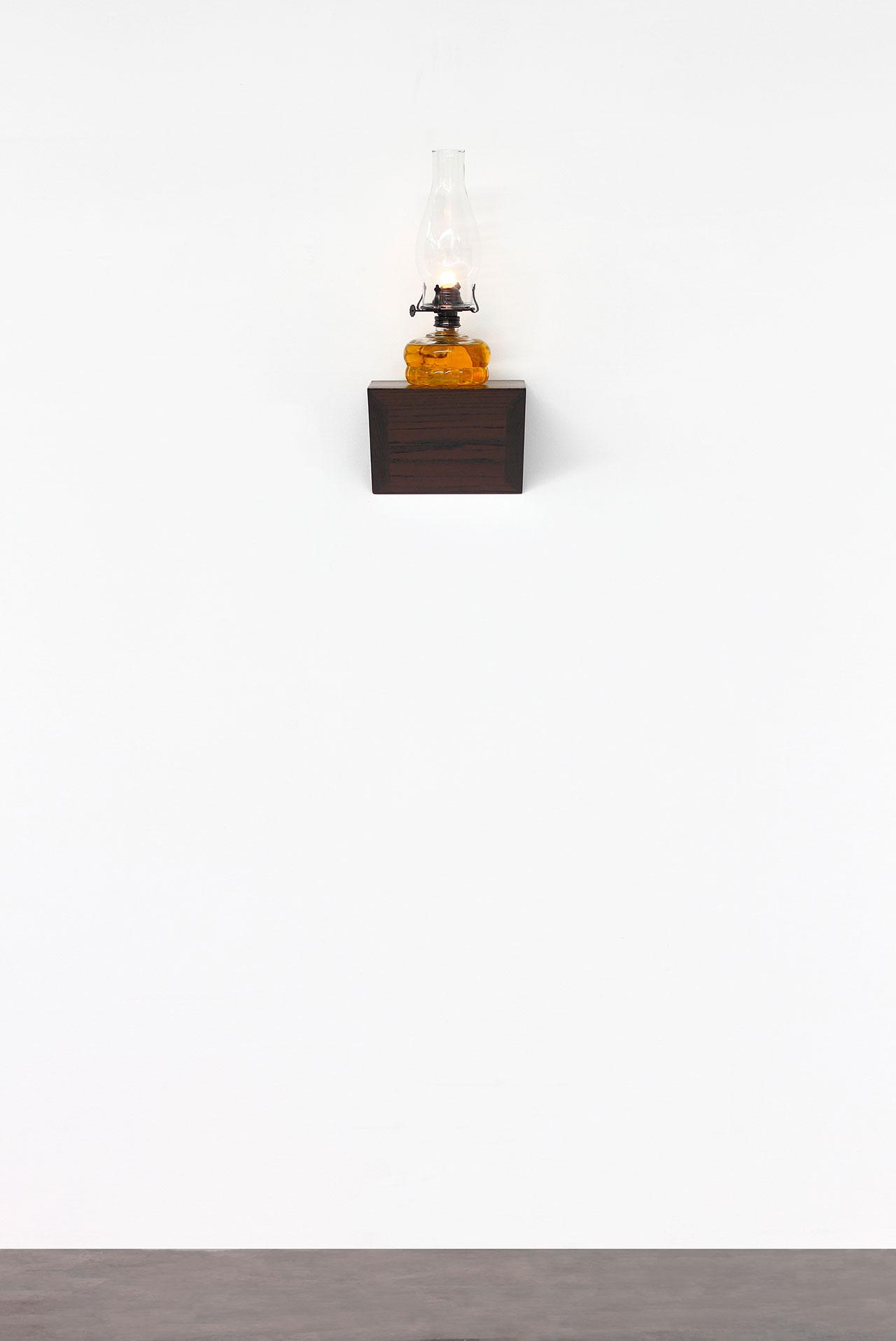 Untitled 2015 Wood, oil lamp 45 x 20 x 20 cm Photo © Jorge Méndez Blake.