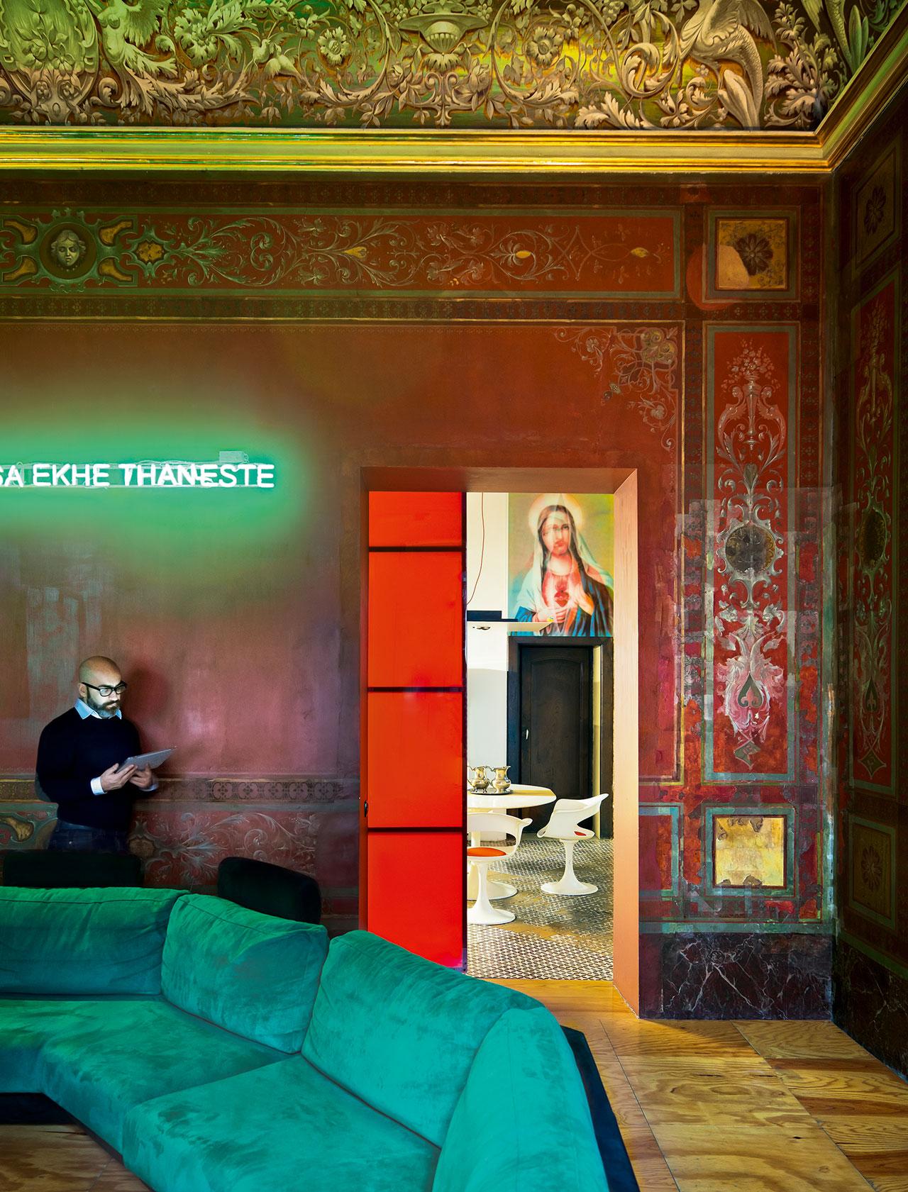 STUDIO NEL SUD,Naples, Italy.InteriorDesign byAntonio Giuseppe Martiniello (Keller Architettura), Photography byKasia Gatkowska, fromKaleidoscope©Gestalten2016.