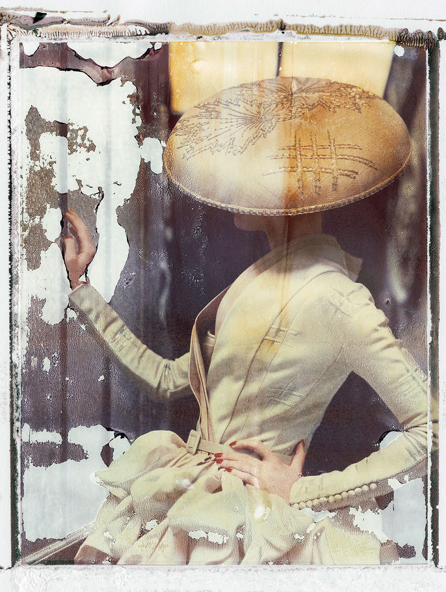 "Cathleen Naundorf ""La fille en plâtre VIII"" Dior Haute Couture summer 2007, Color-print from original polaroid, 2009."