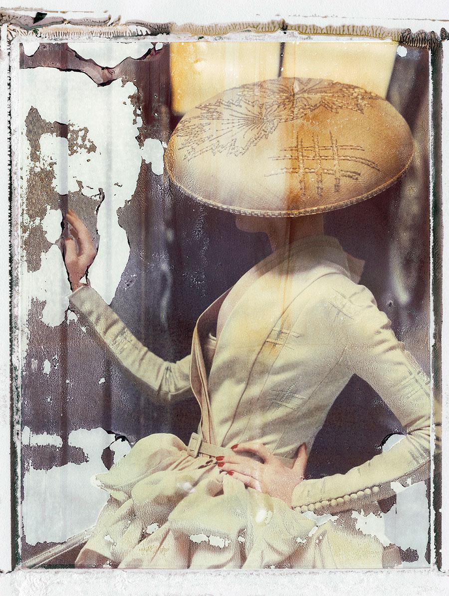 "Cathleen Naundorf ""La fille en plâtre VIII"" DiorHaute Couture summer 2007, Color-print from original polaroid, 2009."