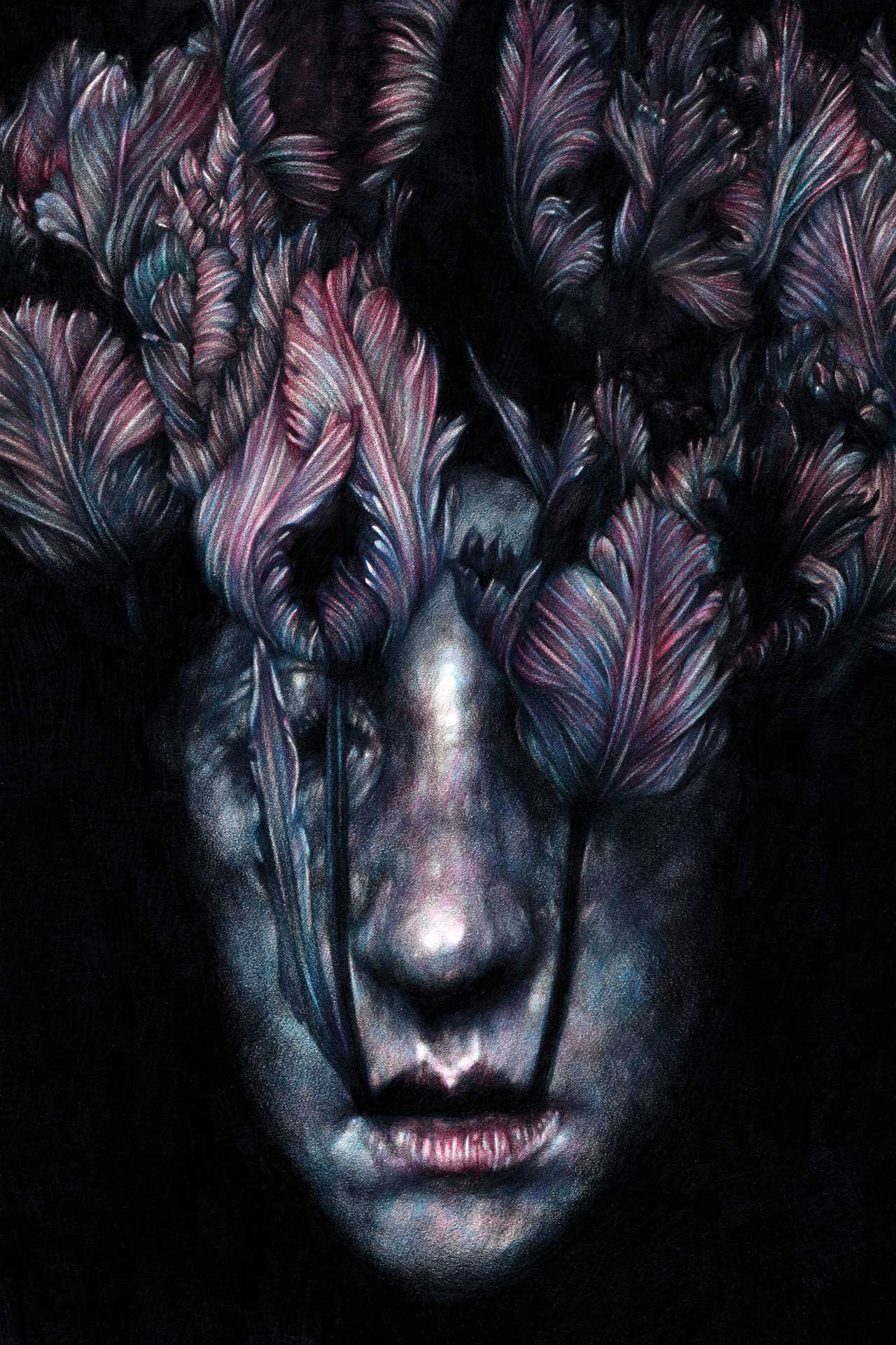 Marco Mazzoni, Reverist, 2016. Colored pencils on paper, 30 x 20cm © Marco Mazzoni.