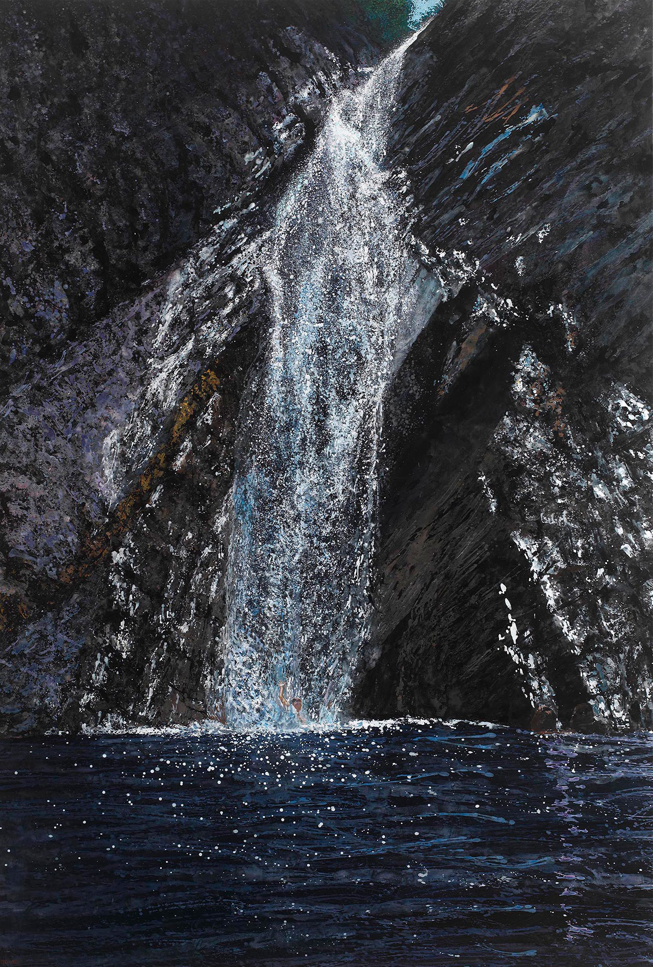 Maria Filopoulou, Flow, 2011. Oil on canvas, 135 x 200cm.