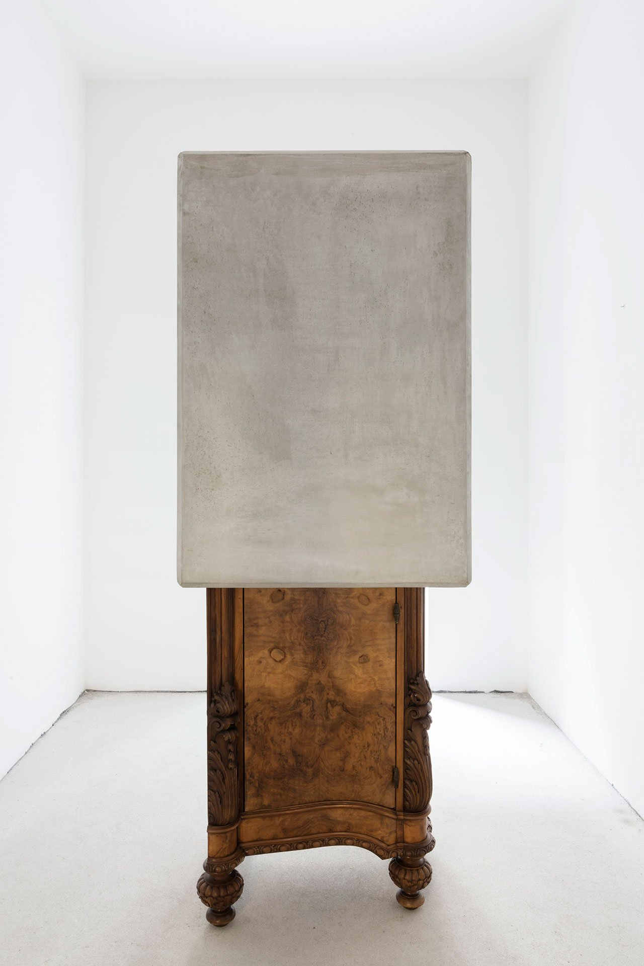 "Nucleo (Piergiorgio Robino + Marzia Ricci), ""Boolean"" And  (Cabinet), 2017. Concrete, vintage furniture, 72 x 80 x 218h cm. Unique piece in an edition 1+1. Photo by Studio Pepe Fotografia."