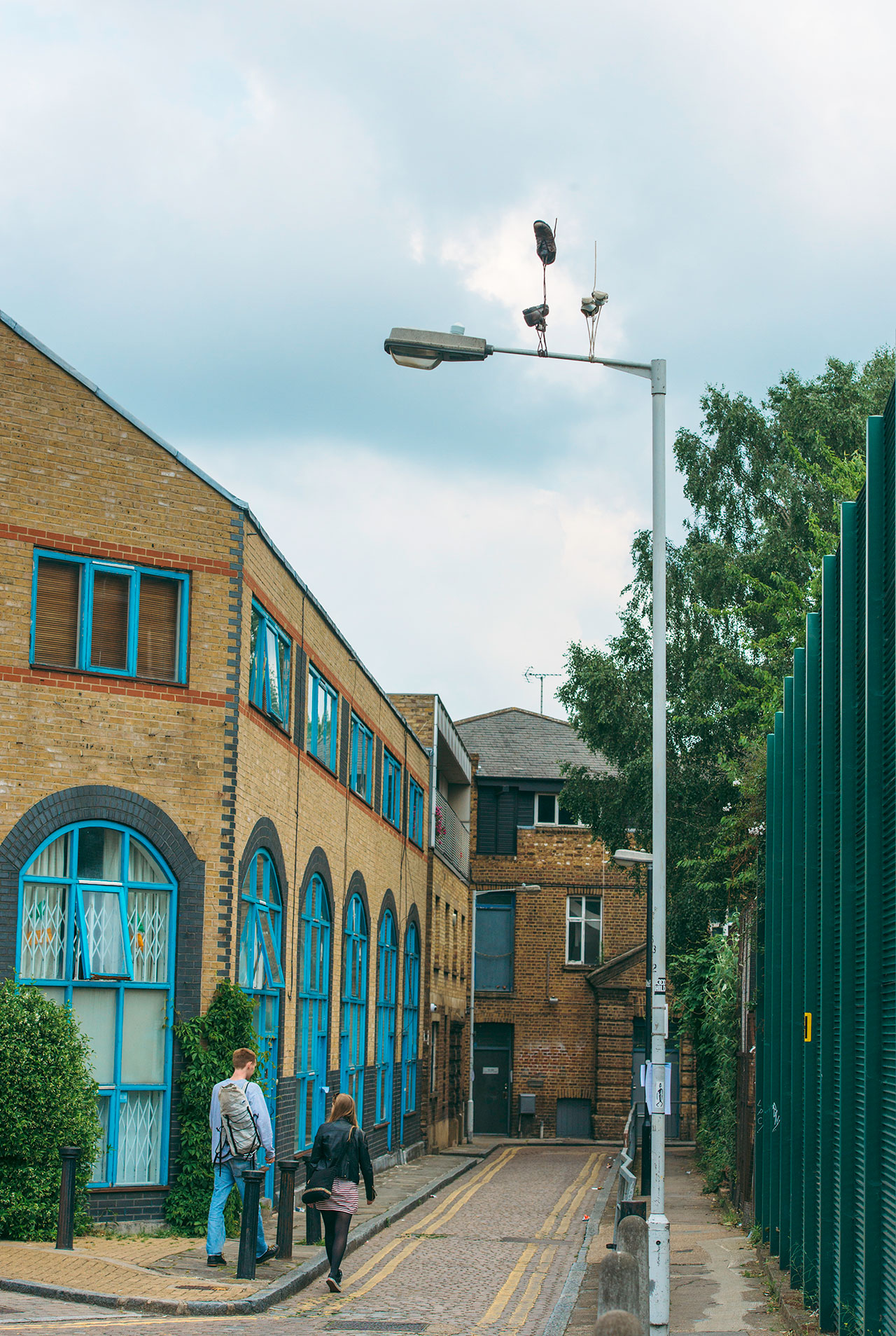 Pejac,Downside Up #1,East London,United Kingdom,2016. Photo by Gary Van Handley.