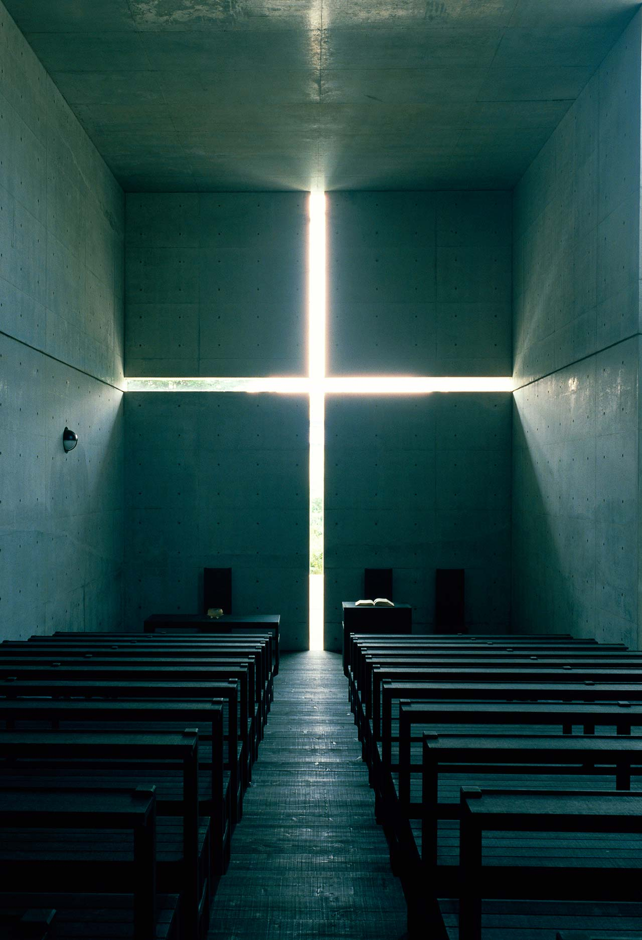 Church of the Light, 1989, Ibaraki, Osaka. Photo by Mitsuo Matsuoka.