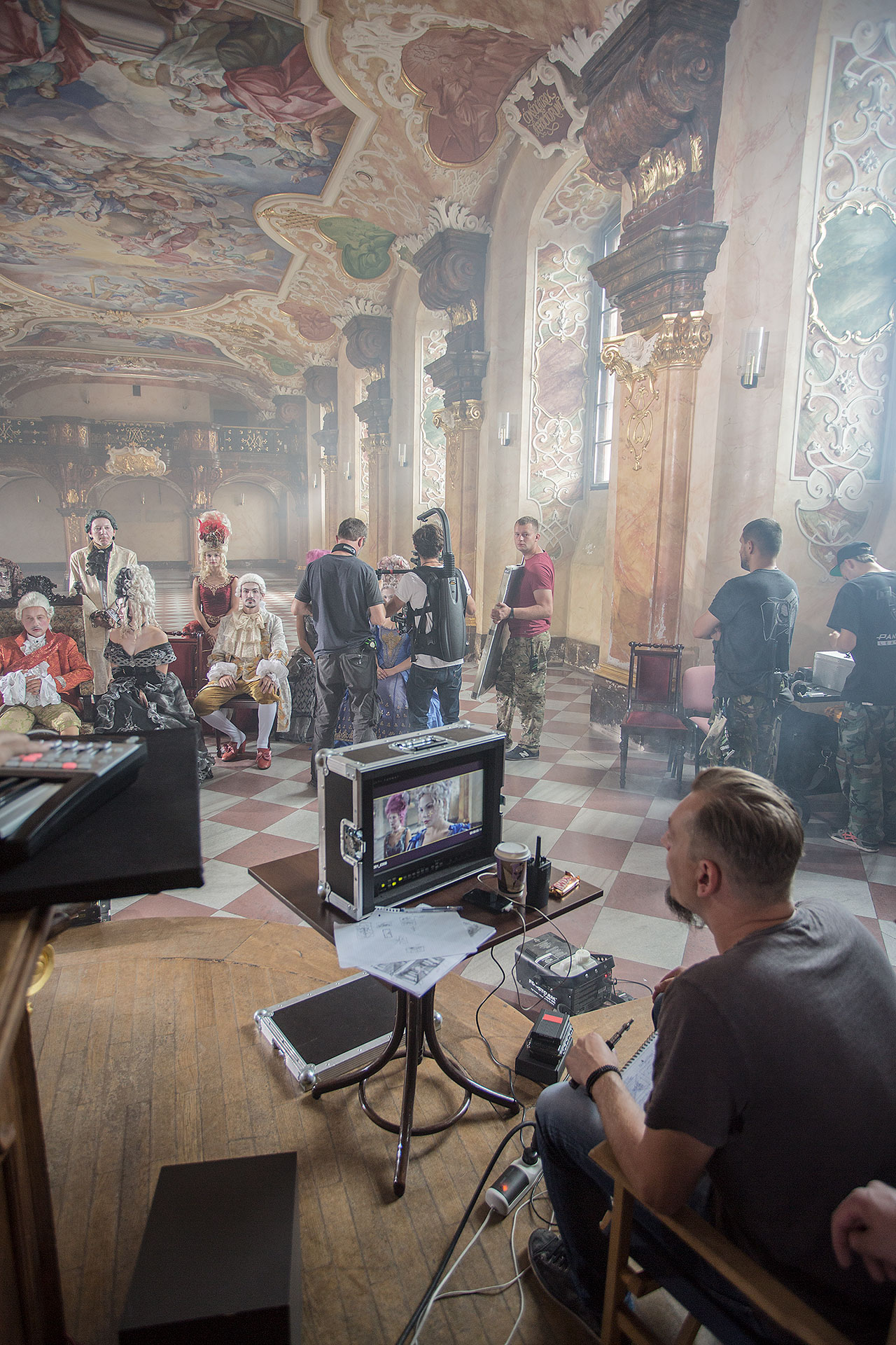 """Knowledge is everywhere – reach for it"" video. Making of backstage. Photo © University of Wrocław."