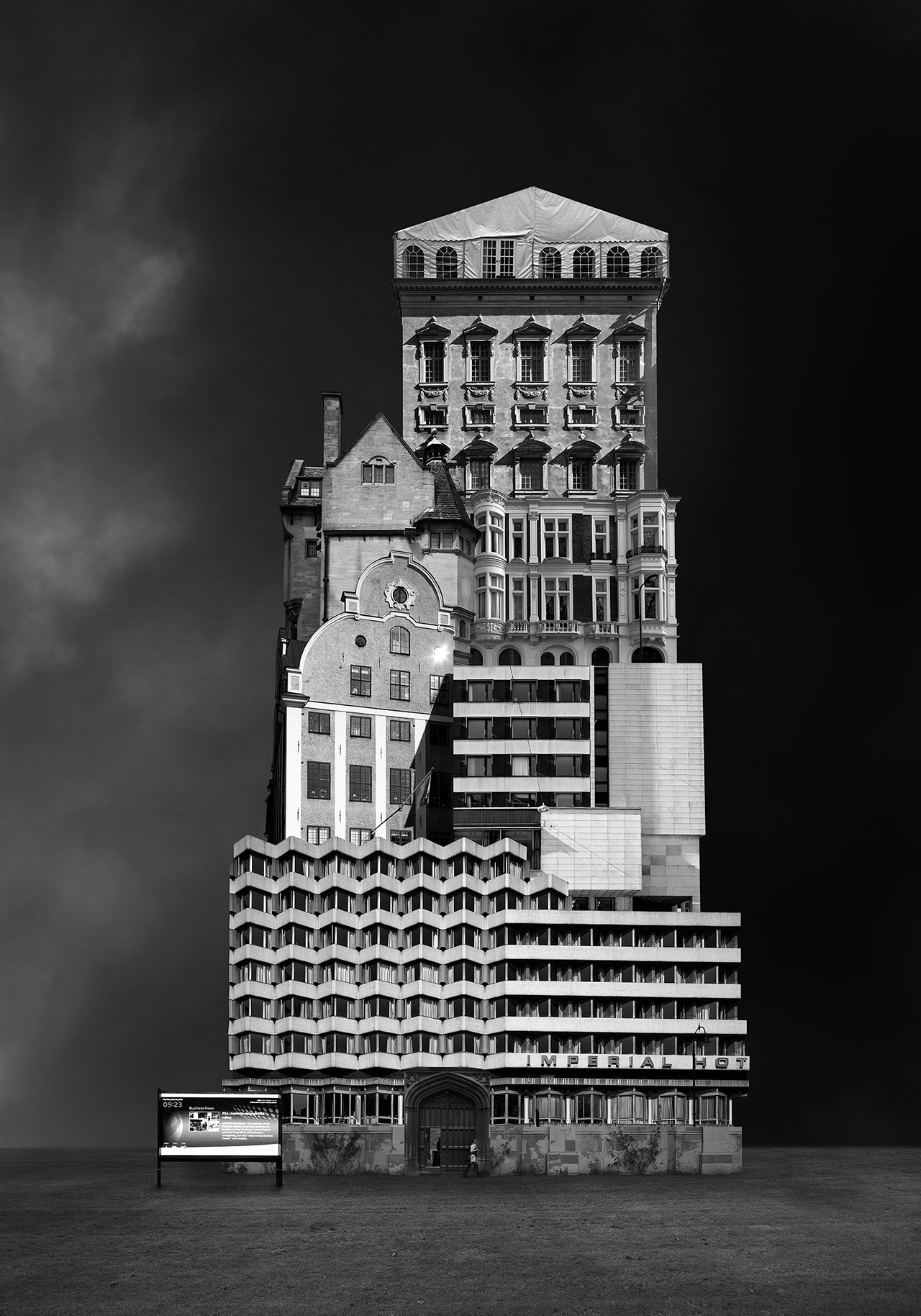 Beomsik Won,Archisculpture 009, 2012. Archival pigment print, 100x70 or 171x120cm.