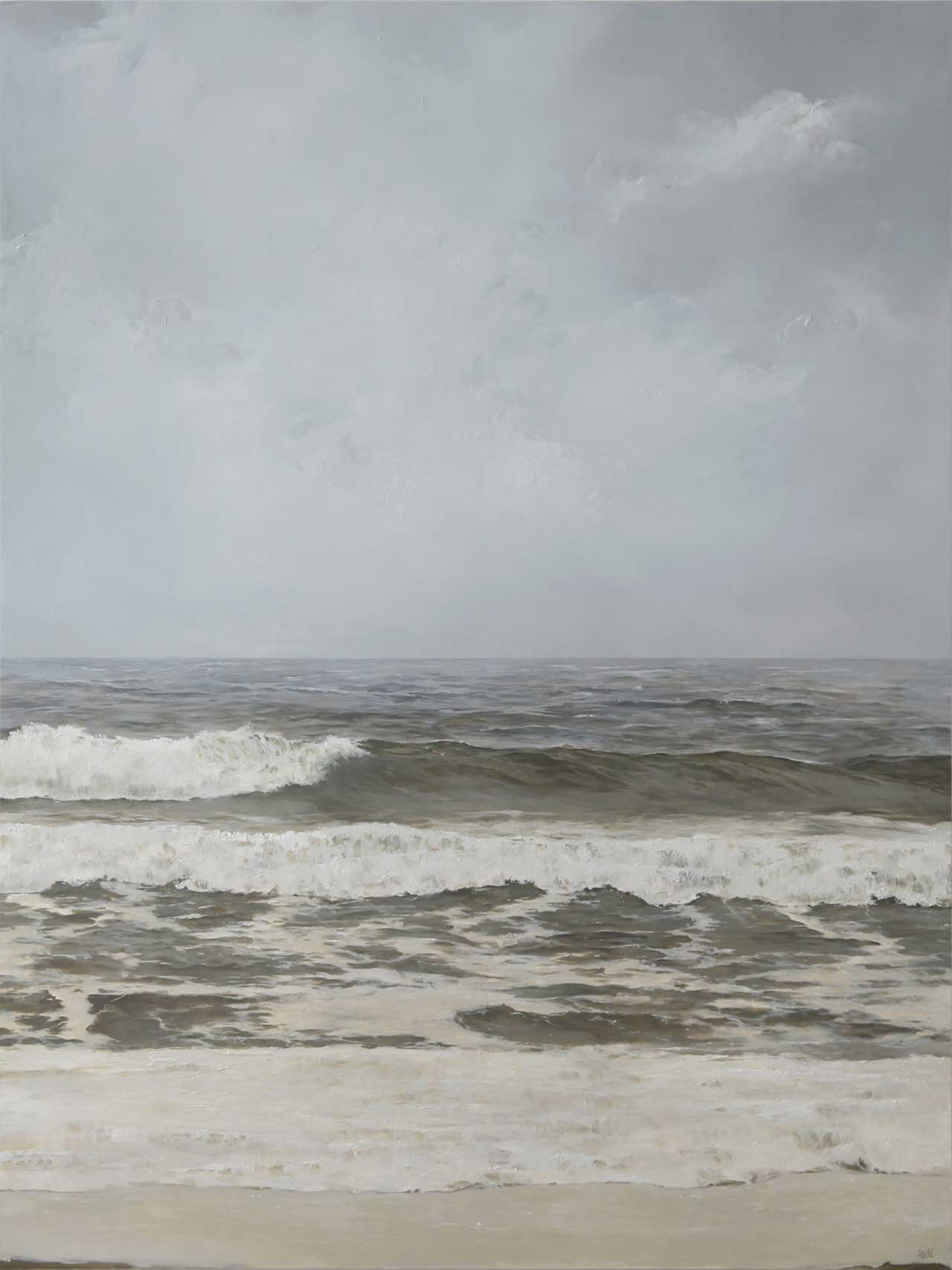 "Adam Hall, Familiar Currents, 30"" x 40"", oil on panel. Courtesy Robert Lange Studios and the artist."