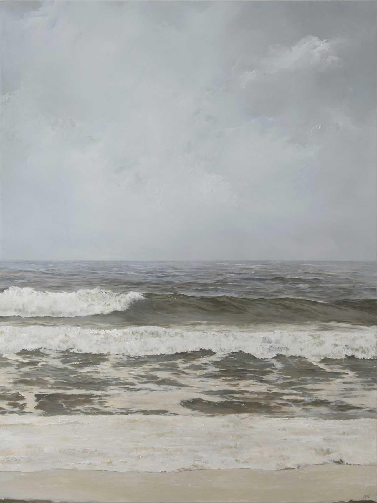 "Adam Hall,Familiar Currents, 30"" x 40"", oil on panel. CourtesyRobert Lange Studios and the artist."