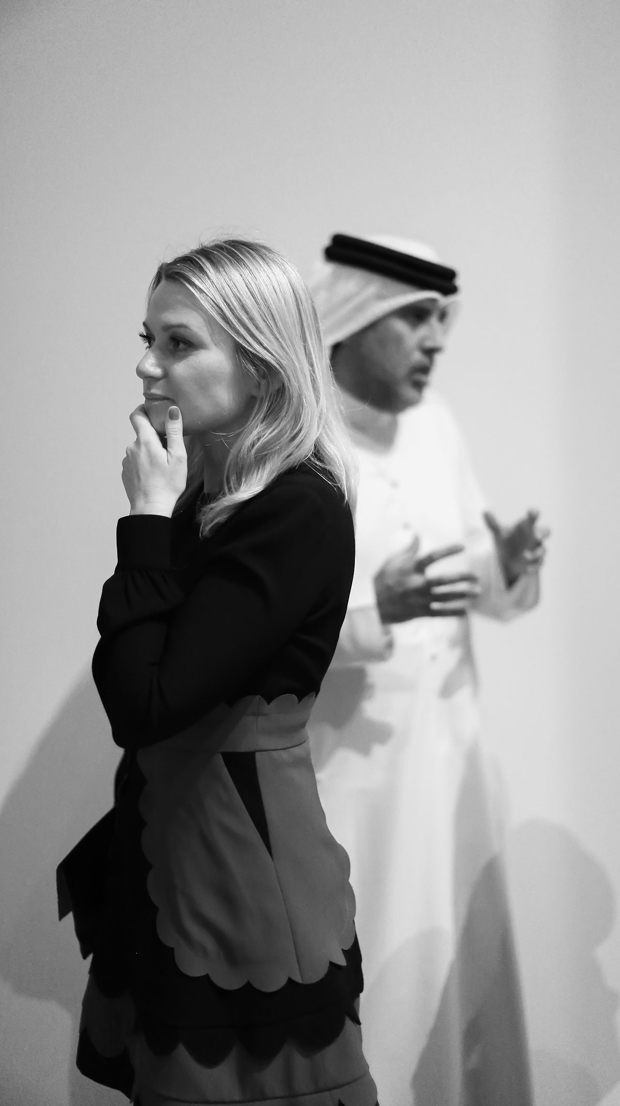 Alserkal Avenue Director Vilma Jurkute and Founder Abdelmonem Alserkal. Photo courtesy Alserkal Avenue.