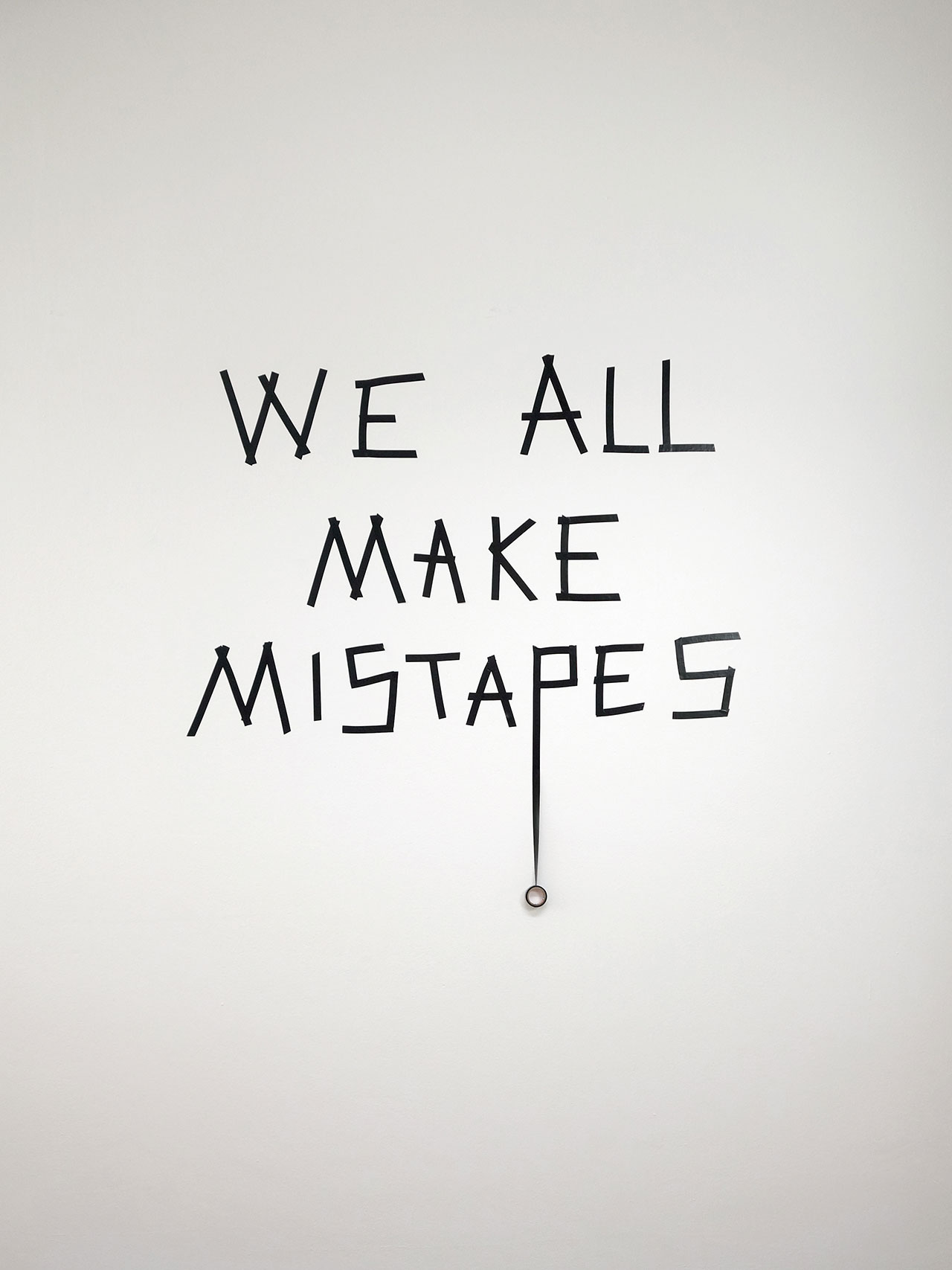 Anatol Knotek, mistapes, text-installation © 2014, town hall gallery.