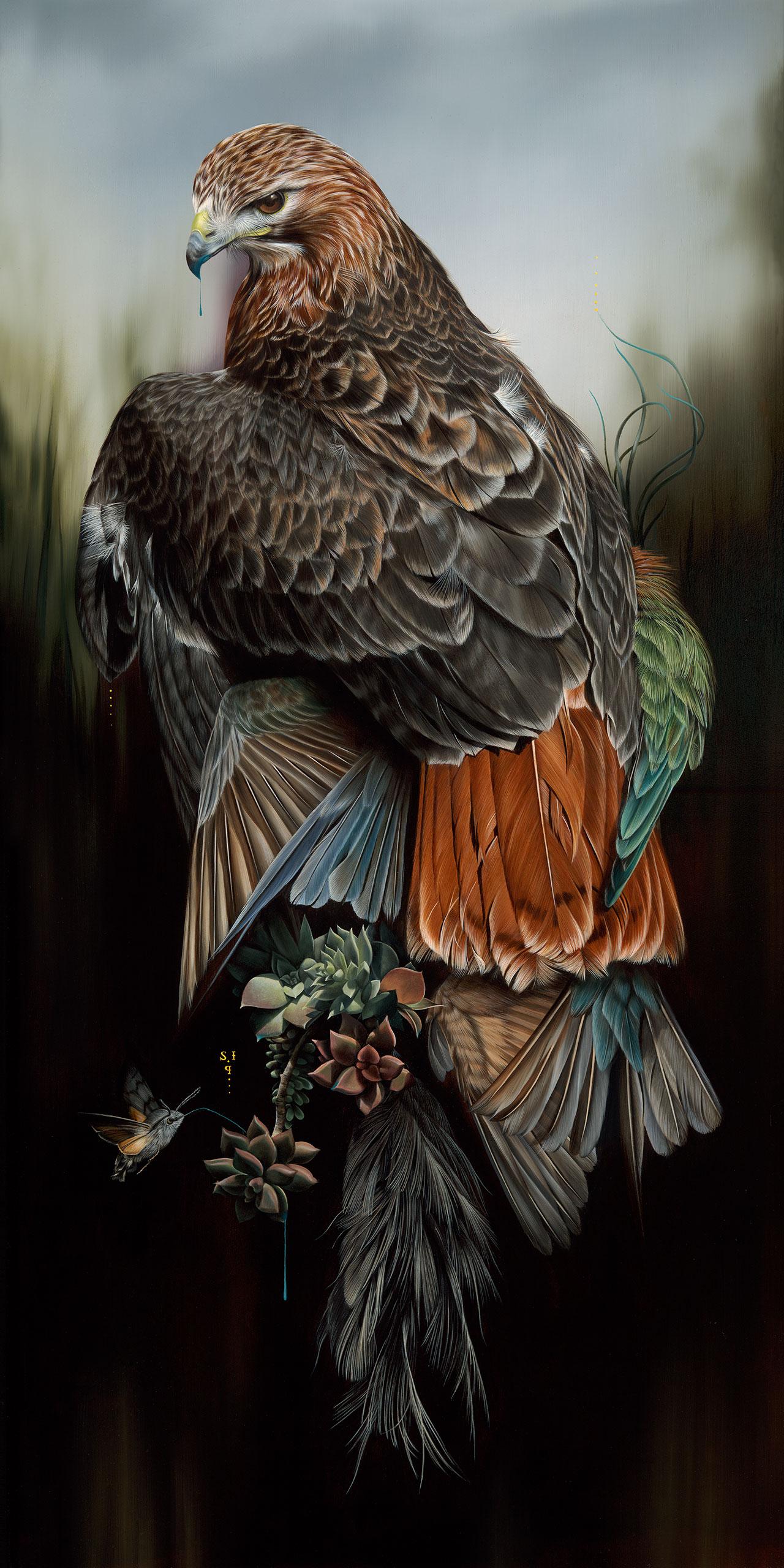 Josie Morway,Yield,oil and enamel on wood panel. ©Josie Morway.
