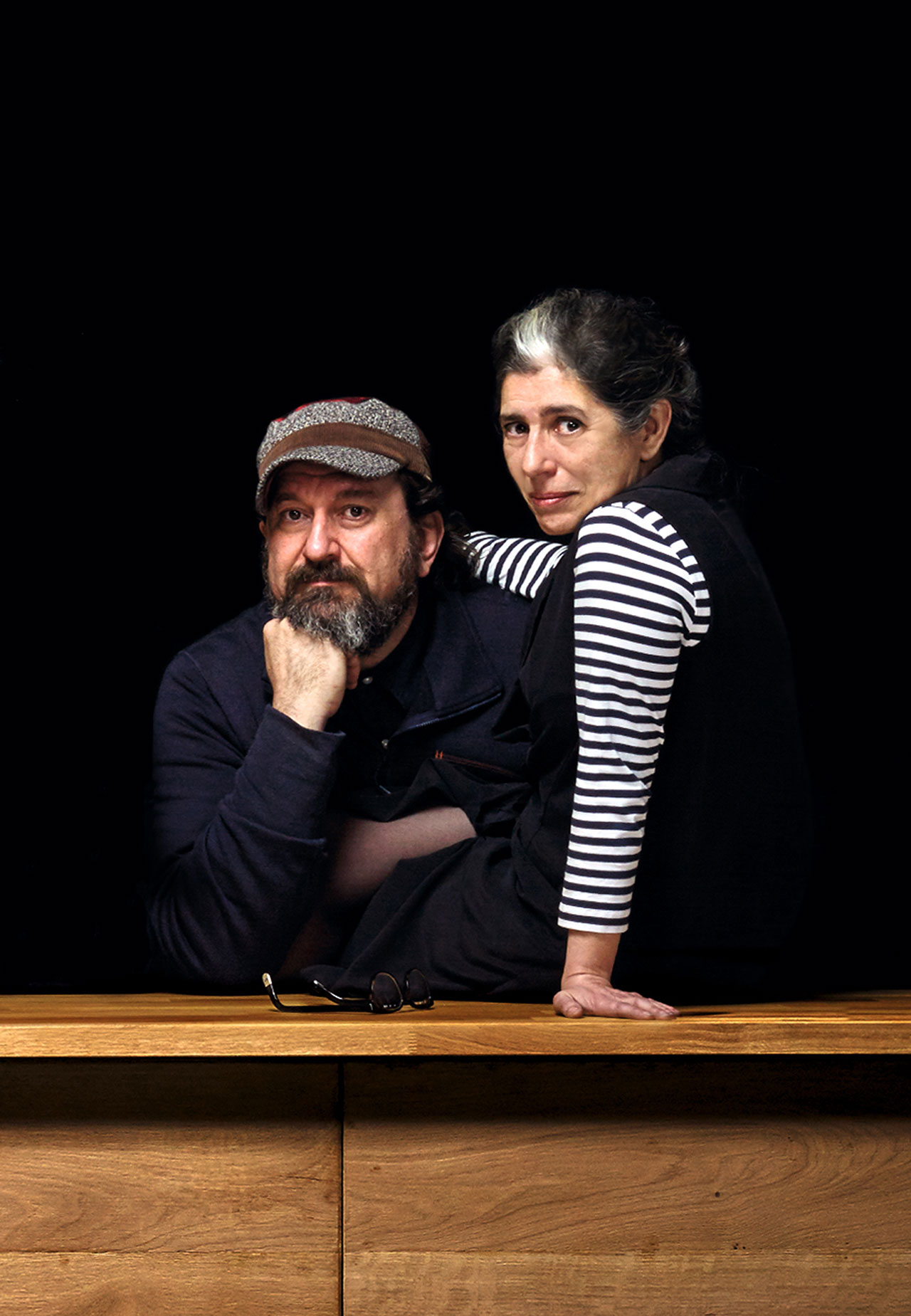 Picture of Marivi Calvo and Sandro Tothill, founders and soul of Lzf Lamps. Photo by Santiago Relanzón.