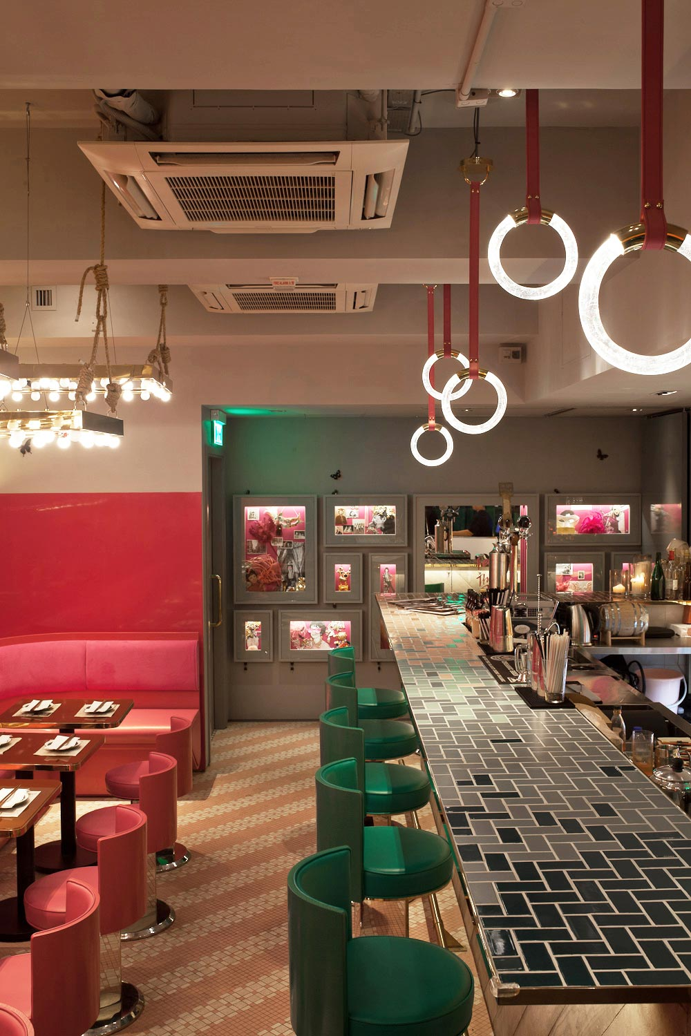 Mrs pound speakeasy bar and restaurant in hong kong by for Interior design hong kong