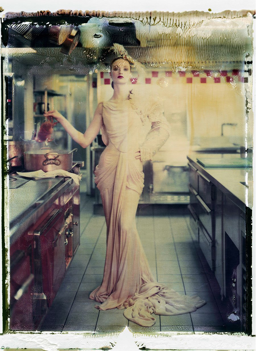"""Cathleen Naundorf """"My little darling"""" Dior Haute Couture winter 2006 -n°30, Color-print from original polaroid, 2009."""