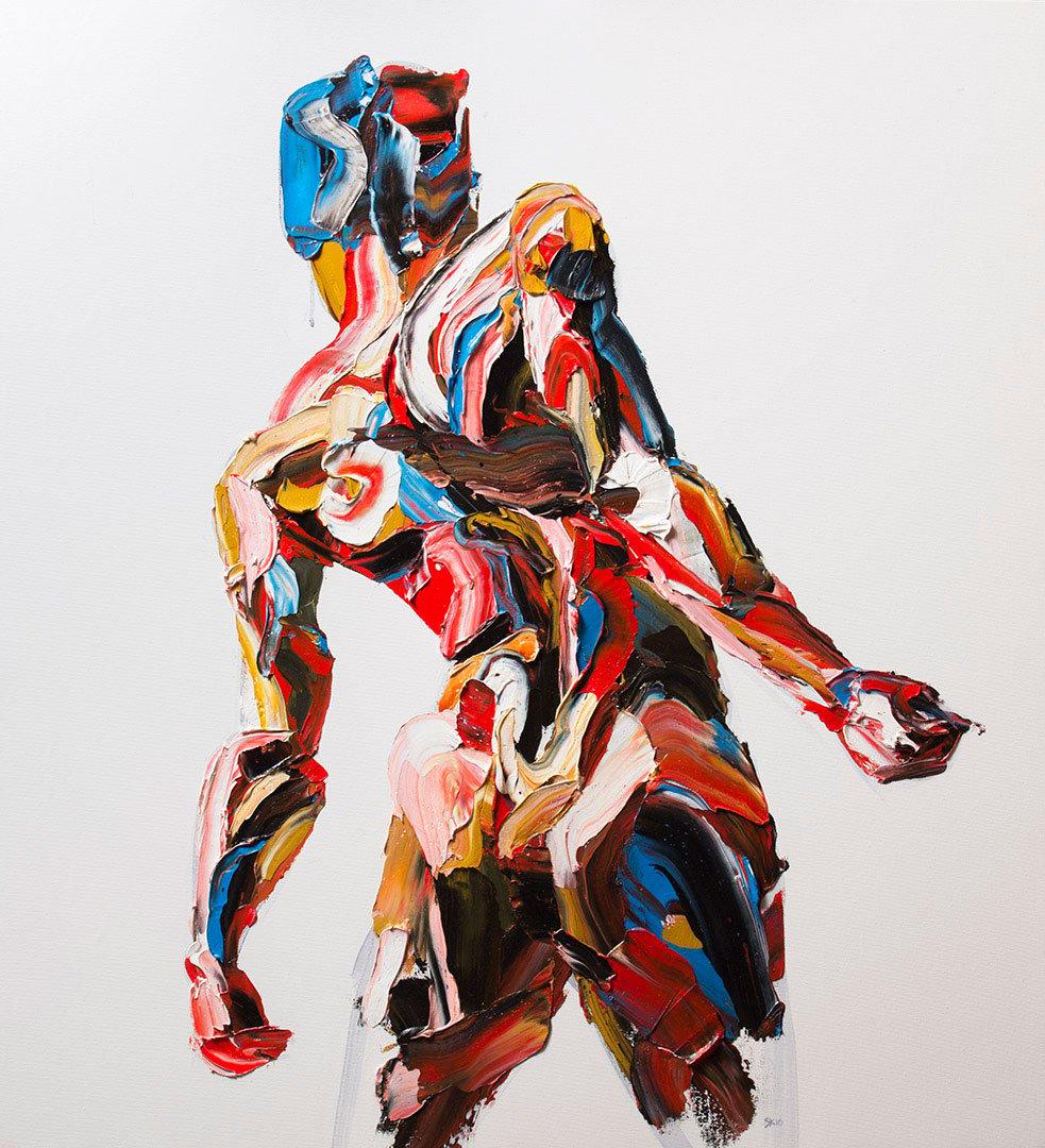 Salman Khoshroo, Collection of figure studies, 84x92cm, oil on canvas.