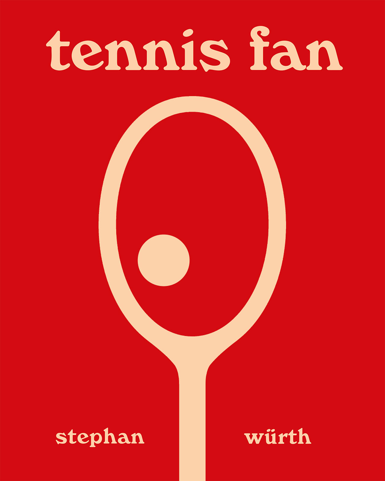 Stephan Würth: Tennis Fan book cover. © Damiani Editore.