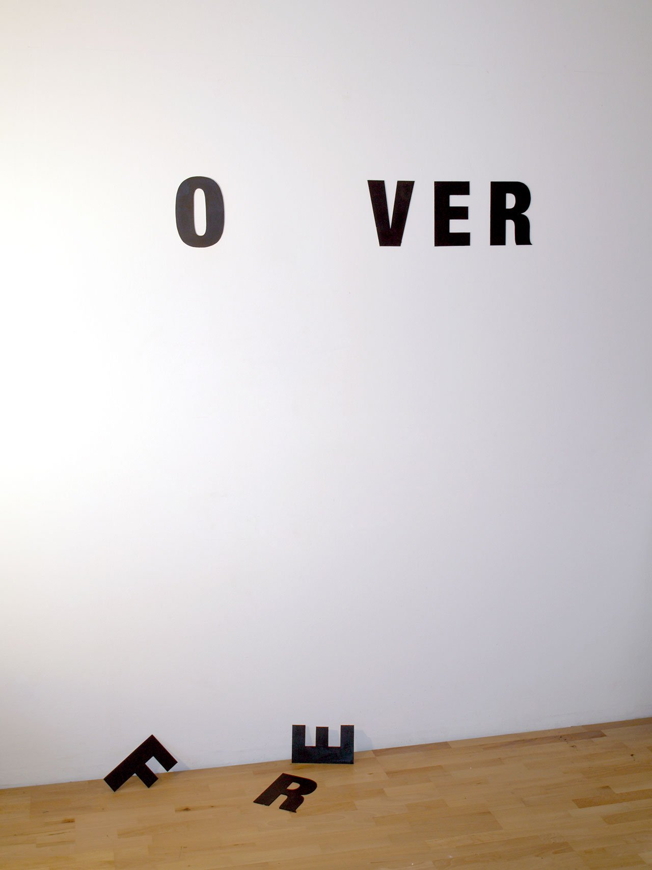 Anatol Knotek, nothing lasts forever, text-installation © 2009/2016, xpon-art gallery.