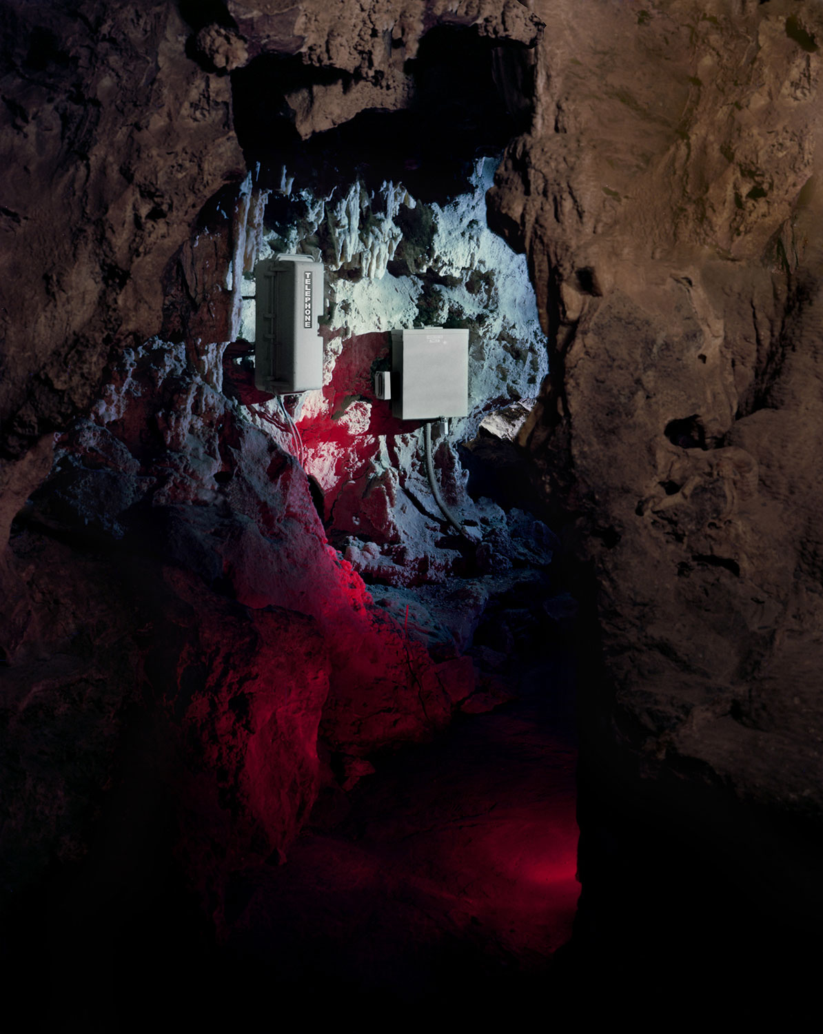 Austin Irving, Colossal Cave Emergency Phone, Arizona, 2013.
