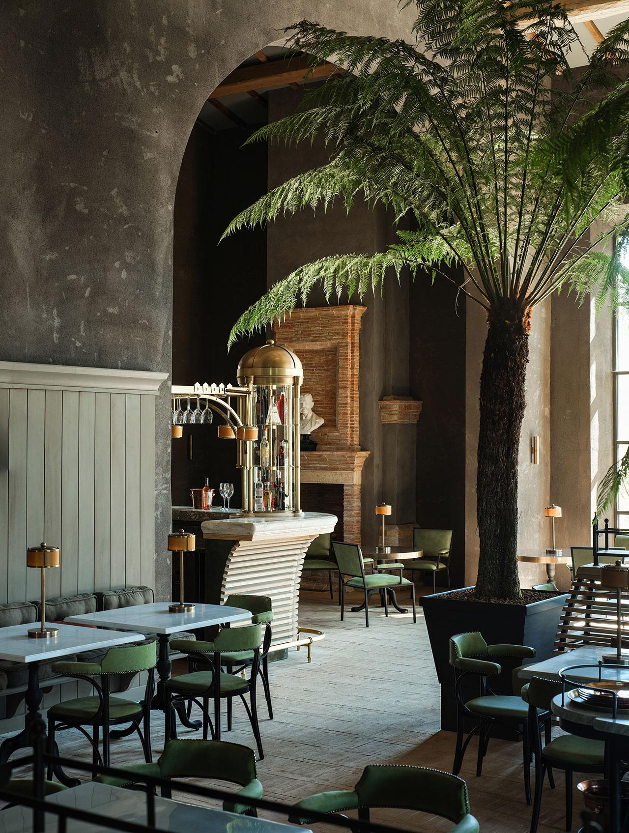 Ristorante Alle Scuderie & Bar Centrale di Reschio.Photo ©Reschioestate.