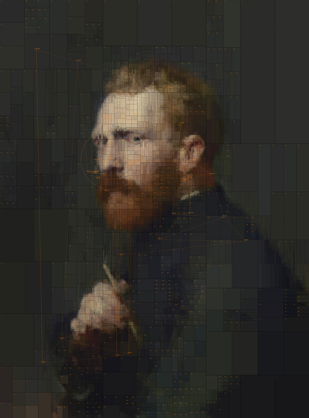 Vincent van Gogh, from Portraits series by Dimitris Ladopoulos (Original painting by John Peter Russell, 1886).