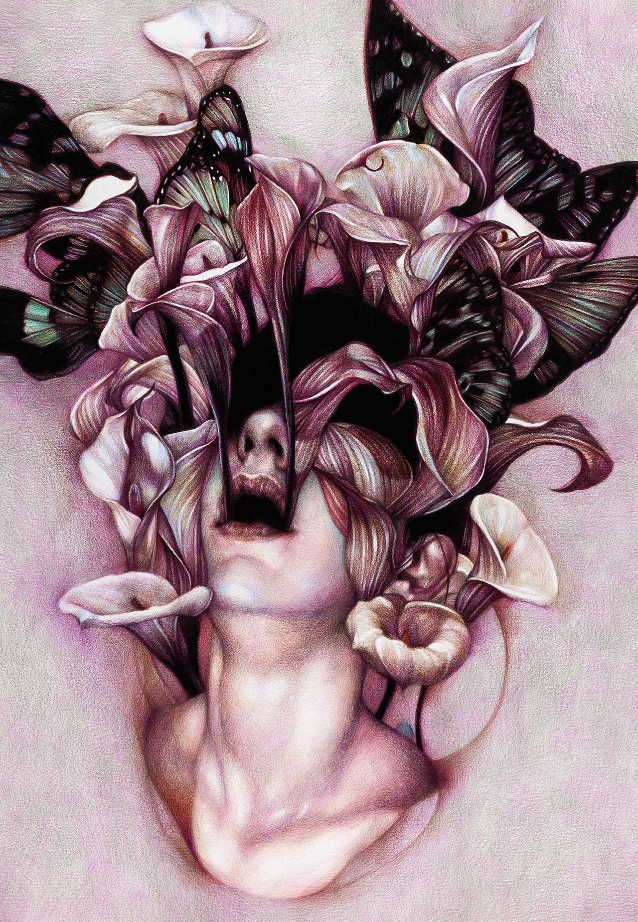 Marco Mazzoni, Euphoria, 2012. Colored pencils on paper, 65 x 45cm  © Marco Mazzoni.