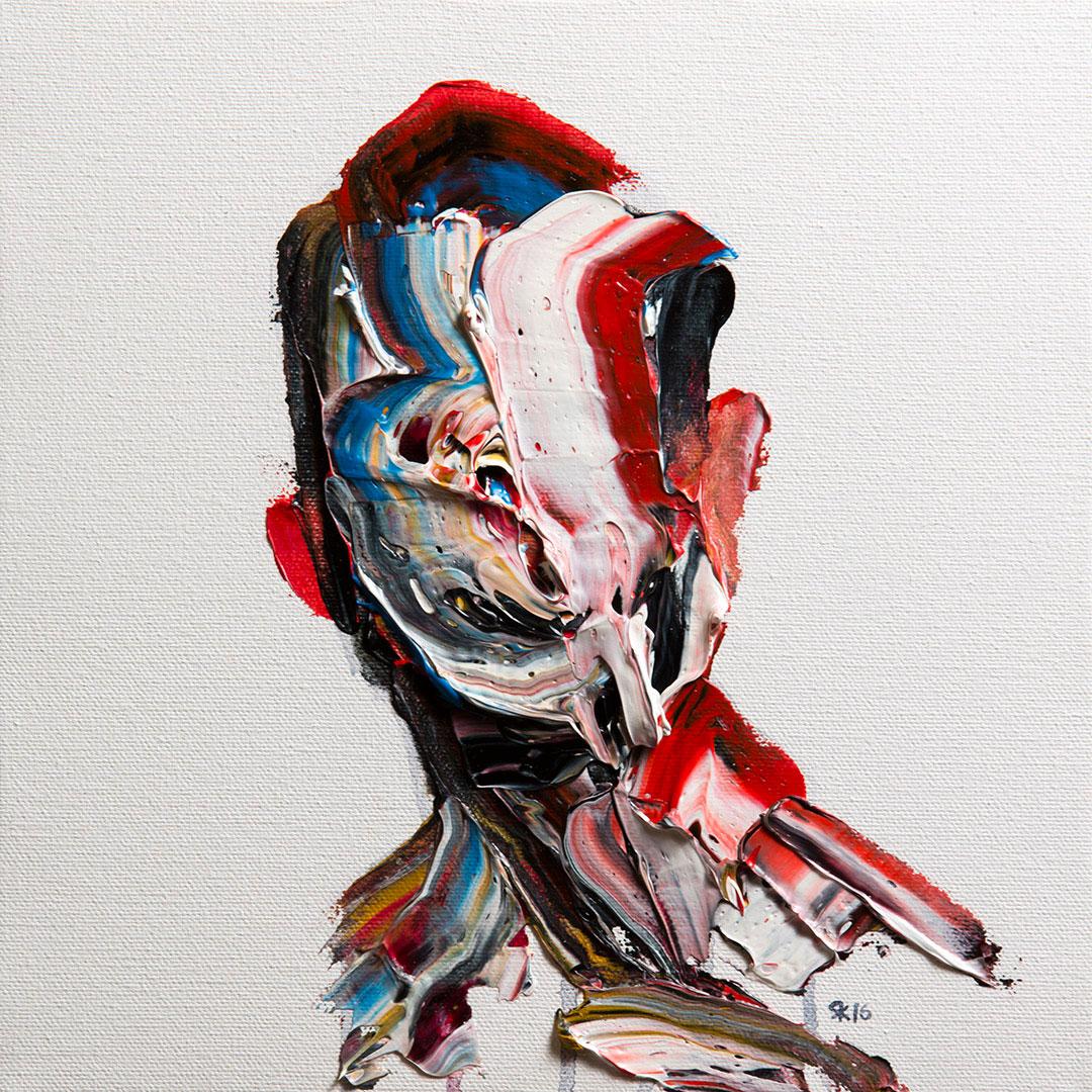 Salman Khoshroo, portrait study, 28x28cm, oil on canvas.
