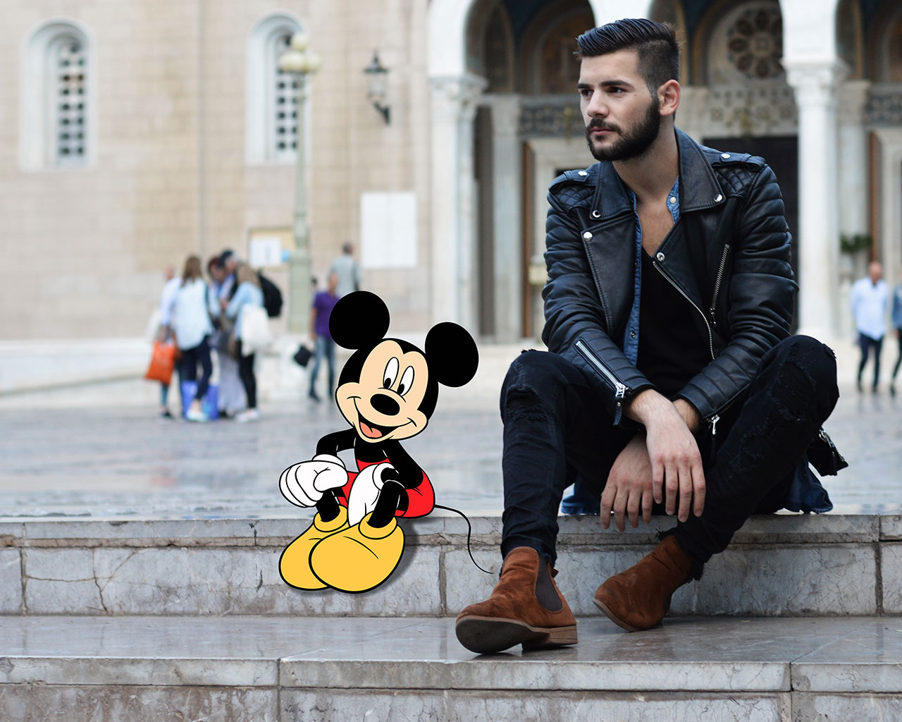 Gregory Masouras portrait with Mickey mouse. Photo © Gregory Masouras.