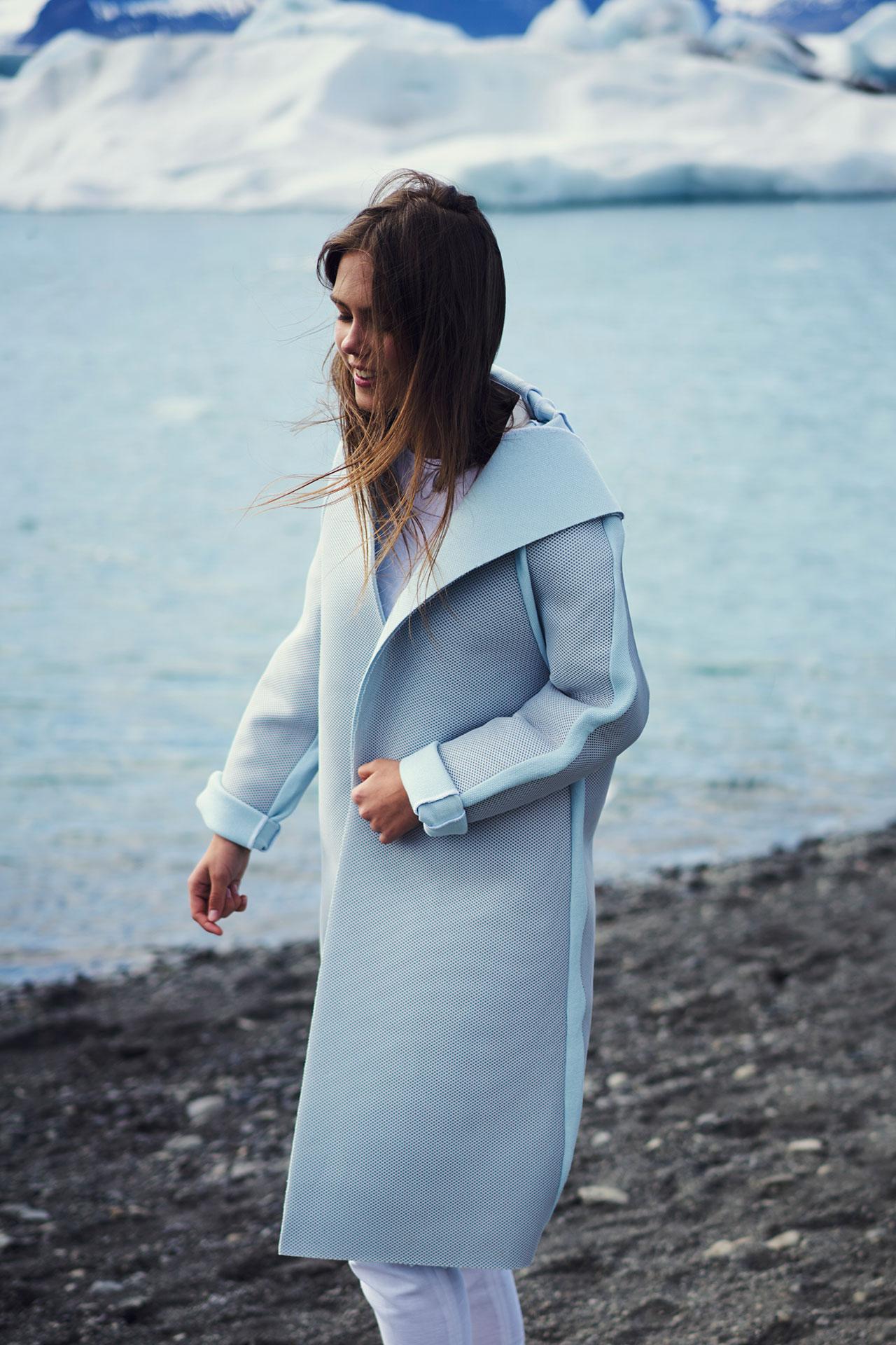 Félicie Eymard, Chrysalid Coat, from Metamorphosis Collection. Photo by Julien Hayard.