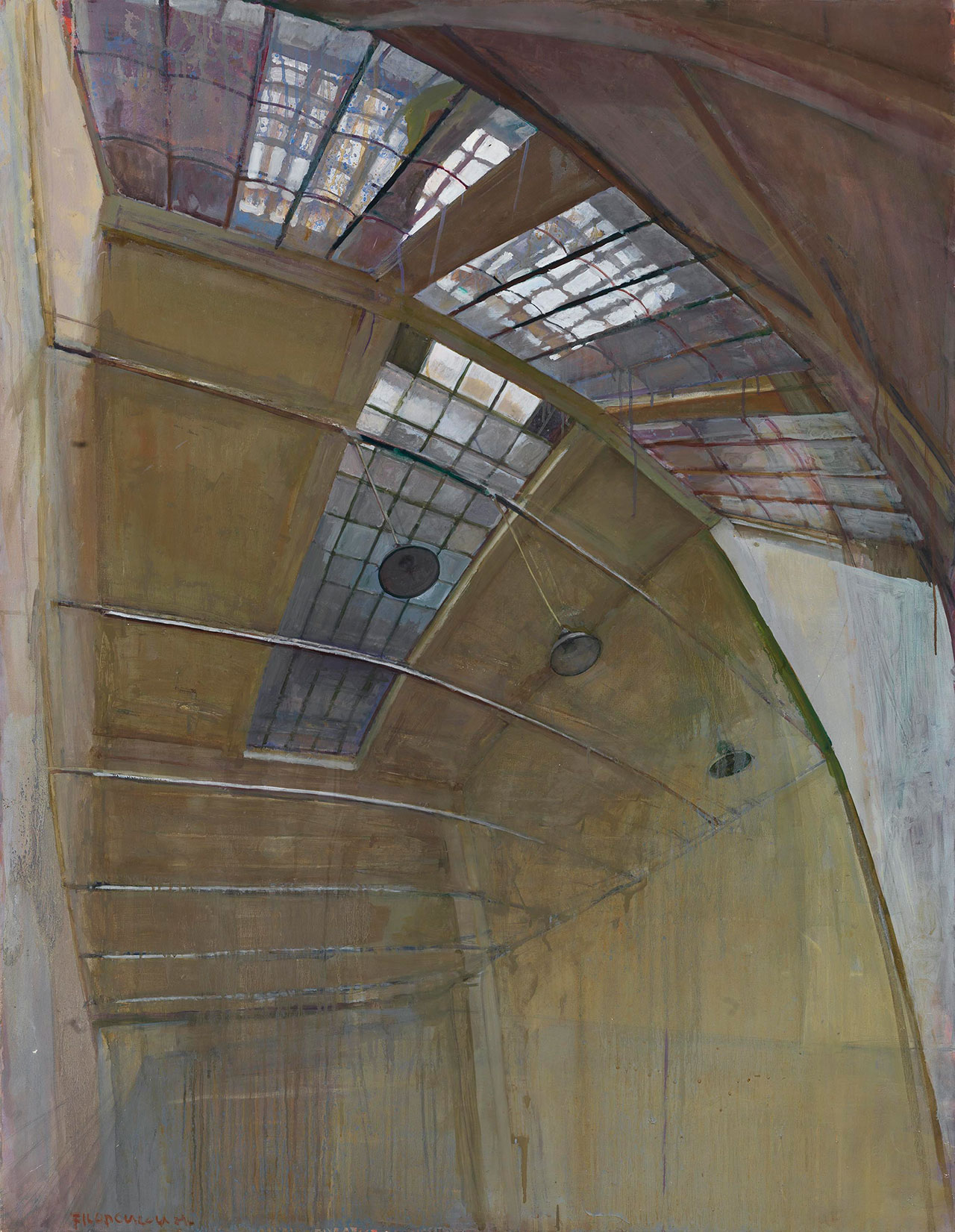 Maria Filopoulou, Skylight, 1988. Oil on canvas, 146 x 113cm.