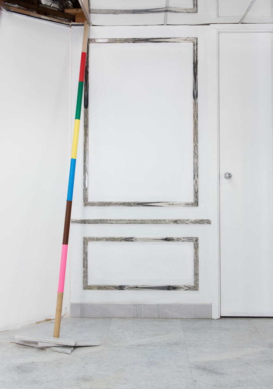 Silvina ArismendiSpears, 2015Wood and plastic stringVariable Dimensions.