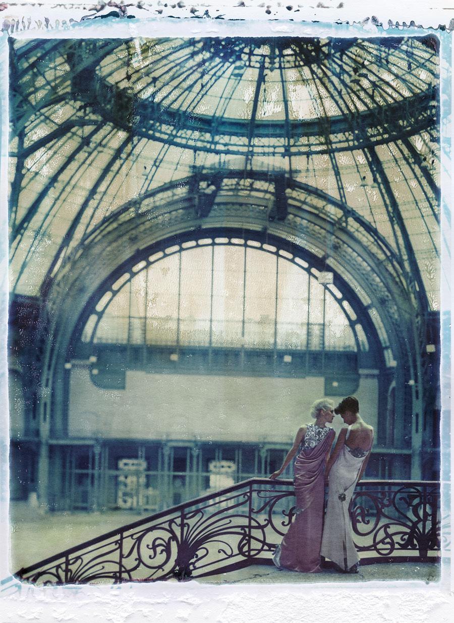 "Cathleen Naundorf ""Secret times (Grand palais I)"" Chanel Haute Couture summer 2010 -n°48 & 49, Color-print from original polaroid, 2010."
