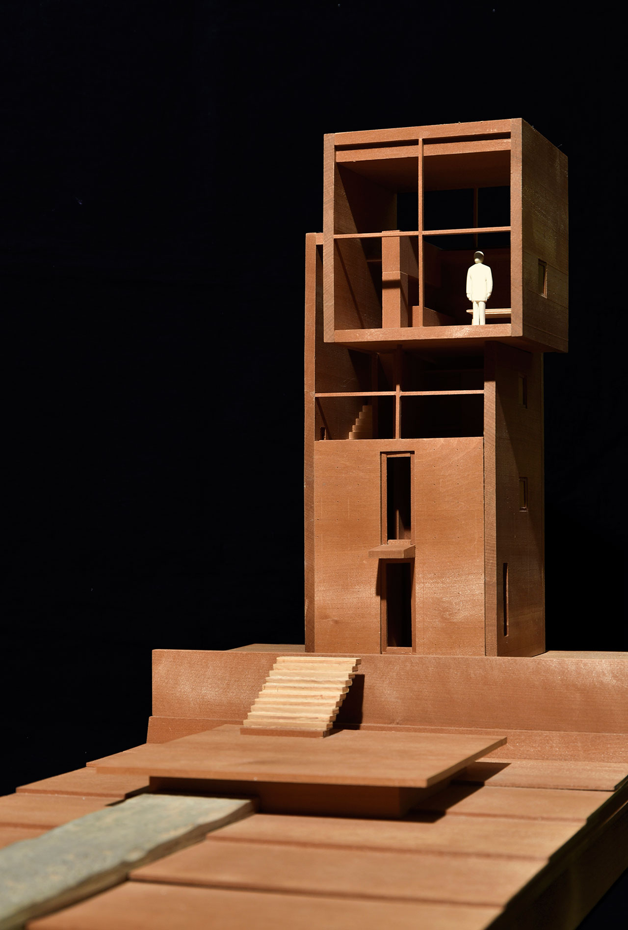 Model of 4 x 4 House (Kobe) © Tadao Ando.
